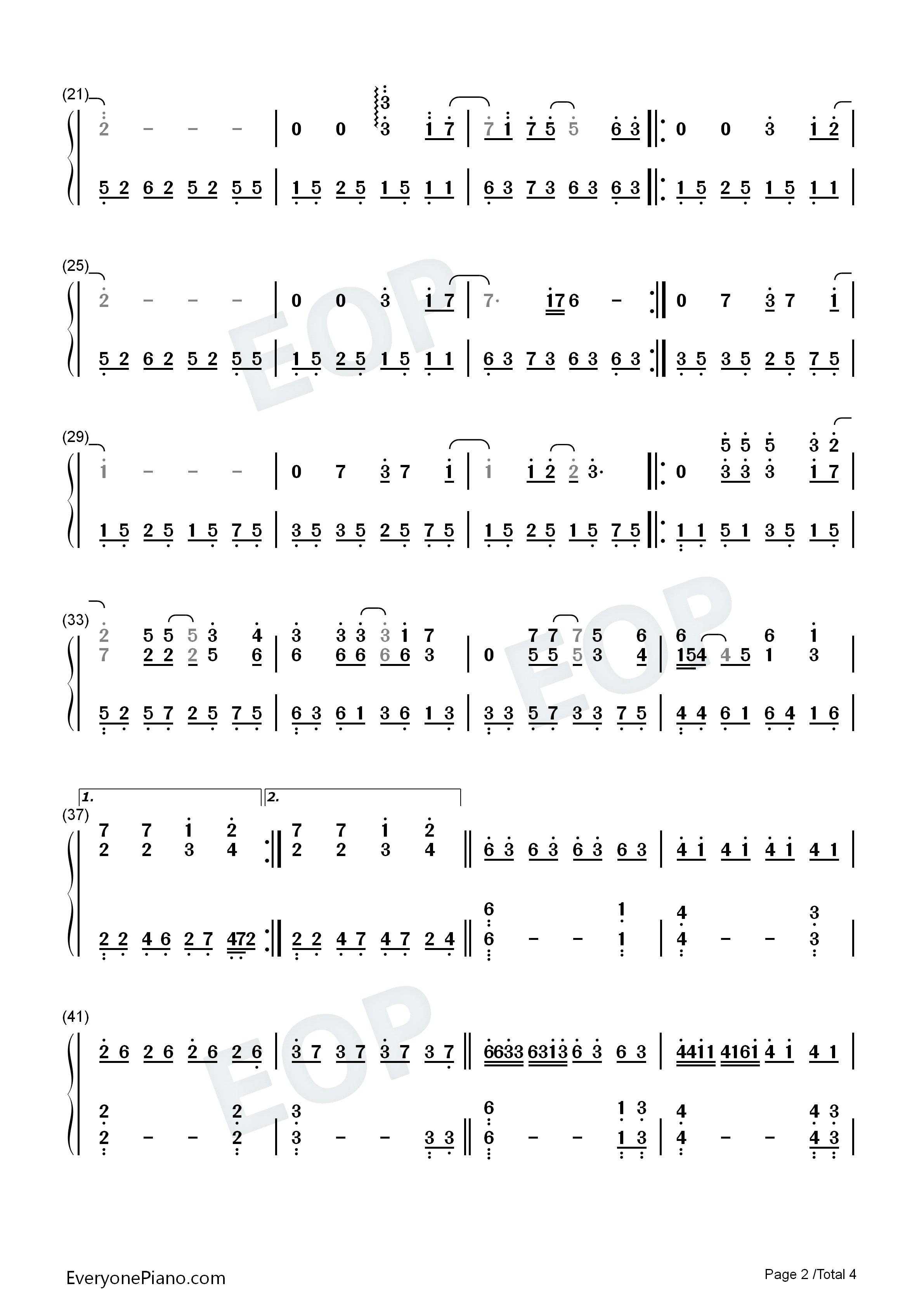 everytime吉他谱子