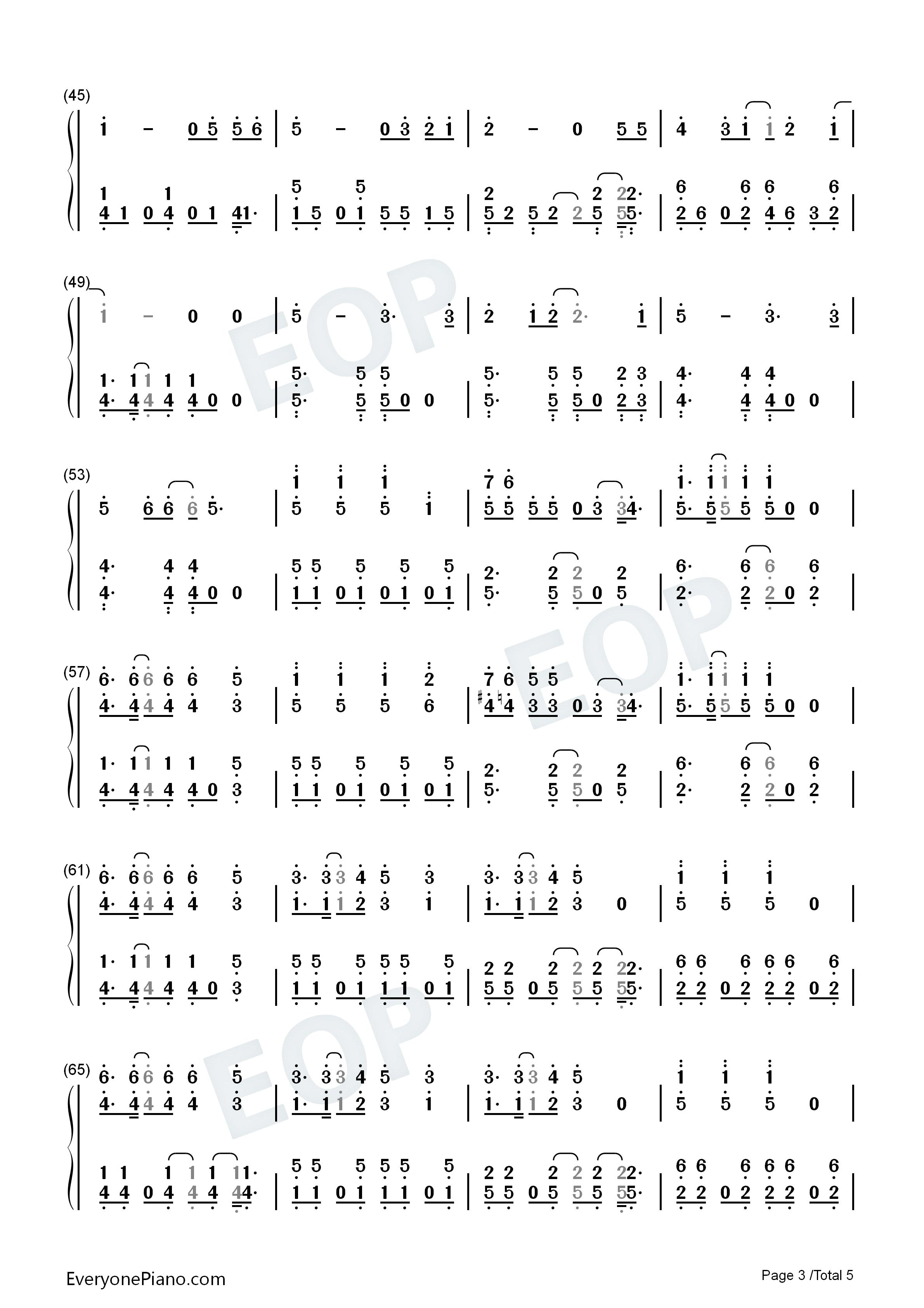 exo电子琴数字简谱