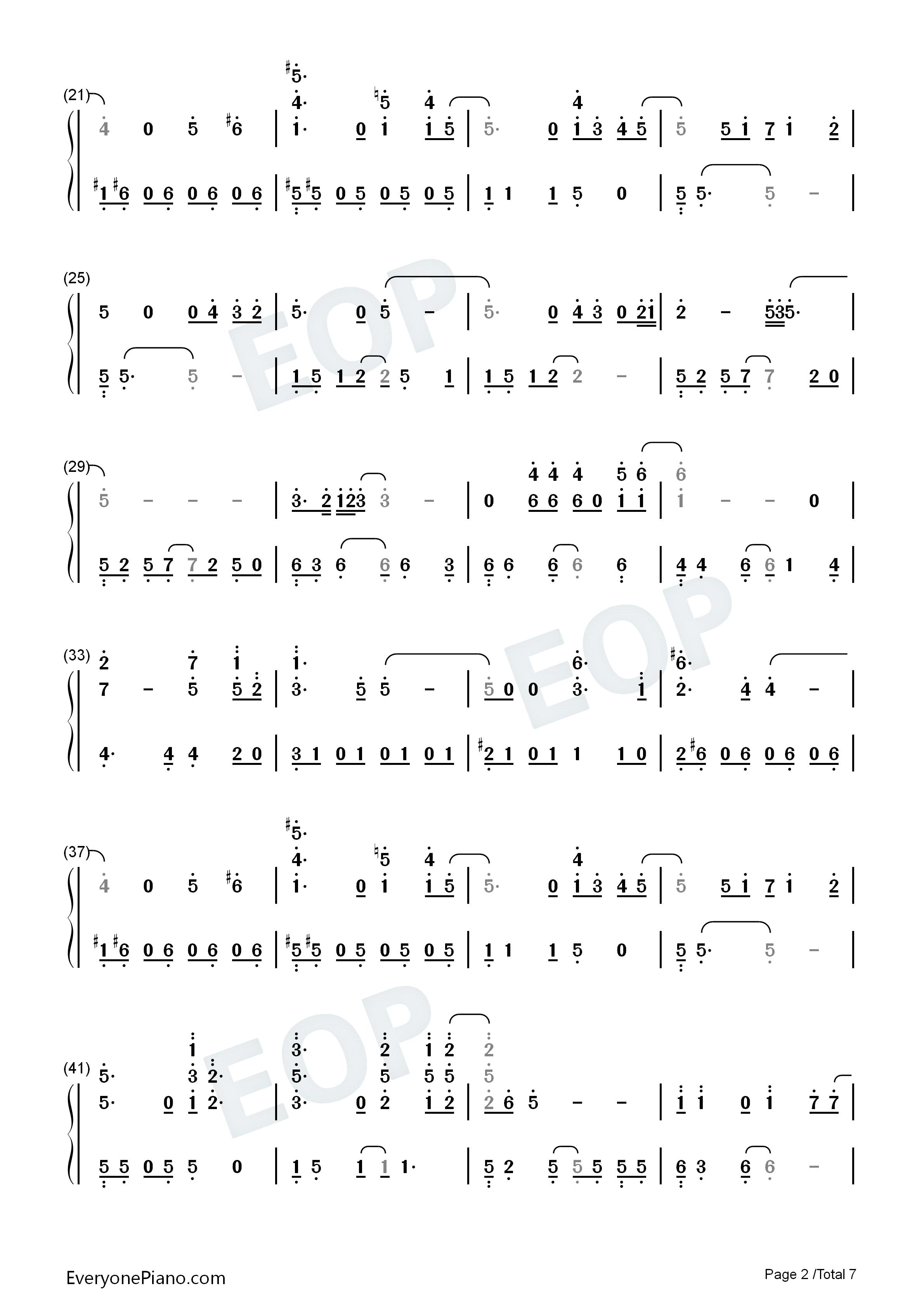 love的曲谱