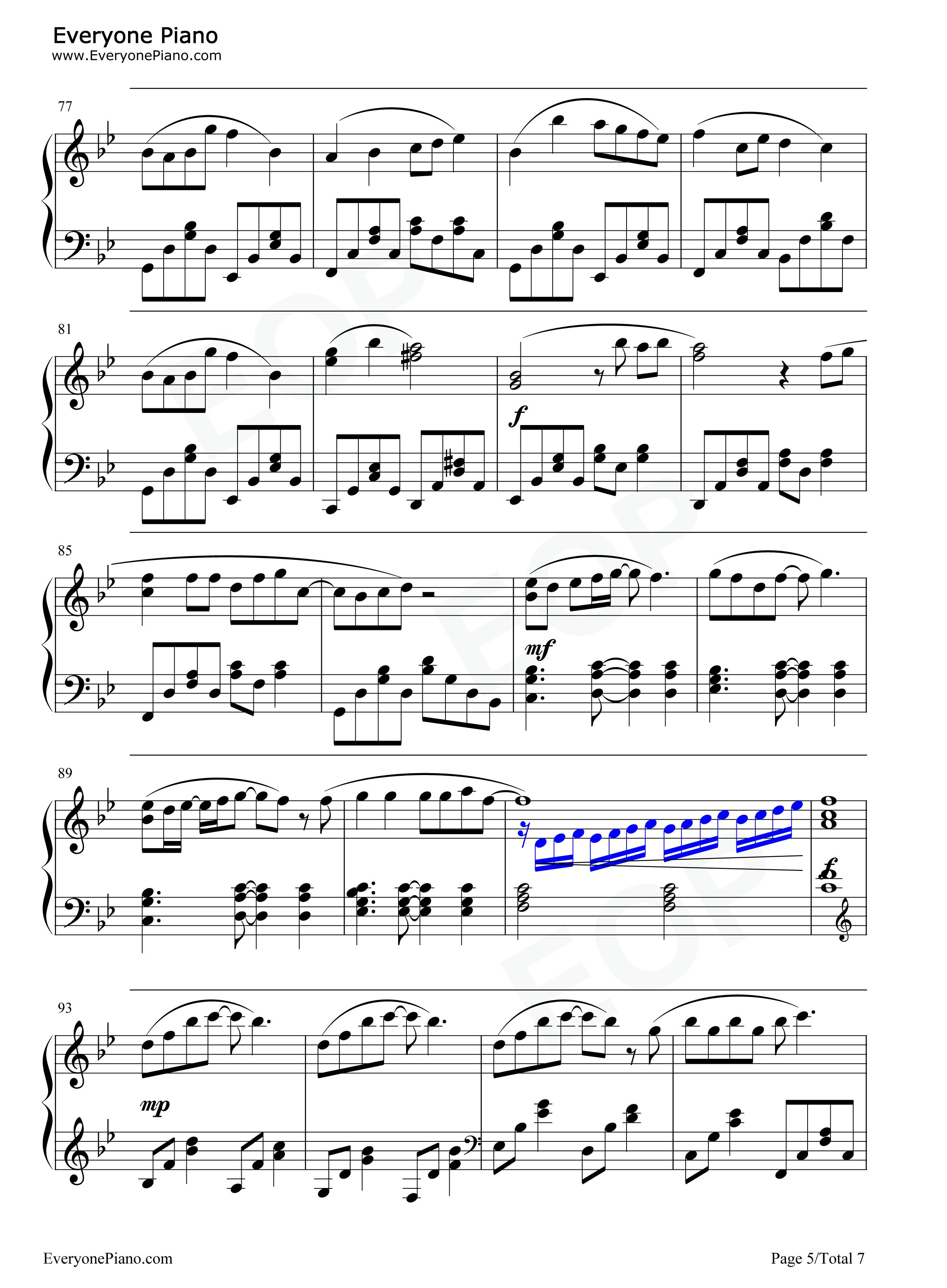longlongago钢琴简谱