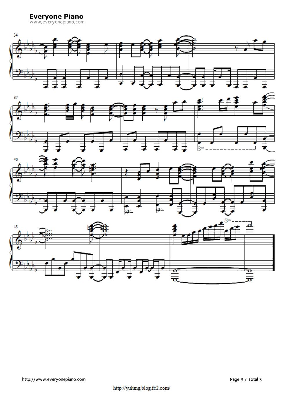 手风琴曲谱