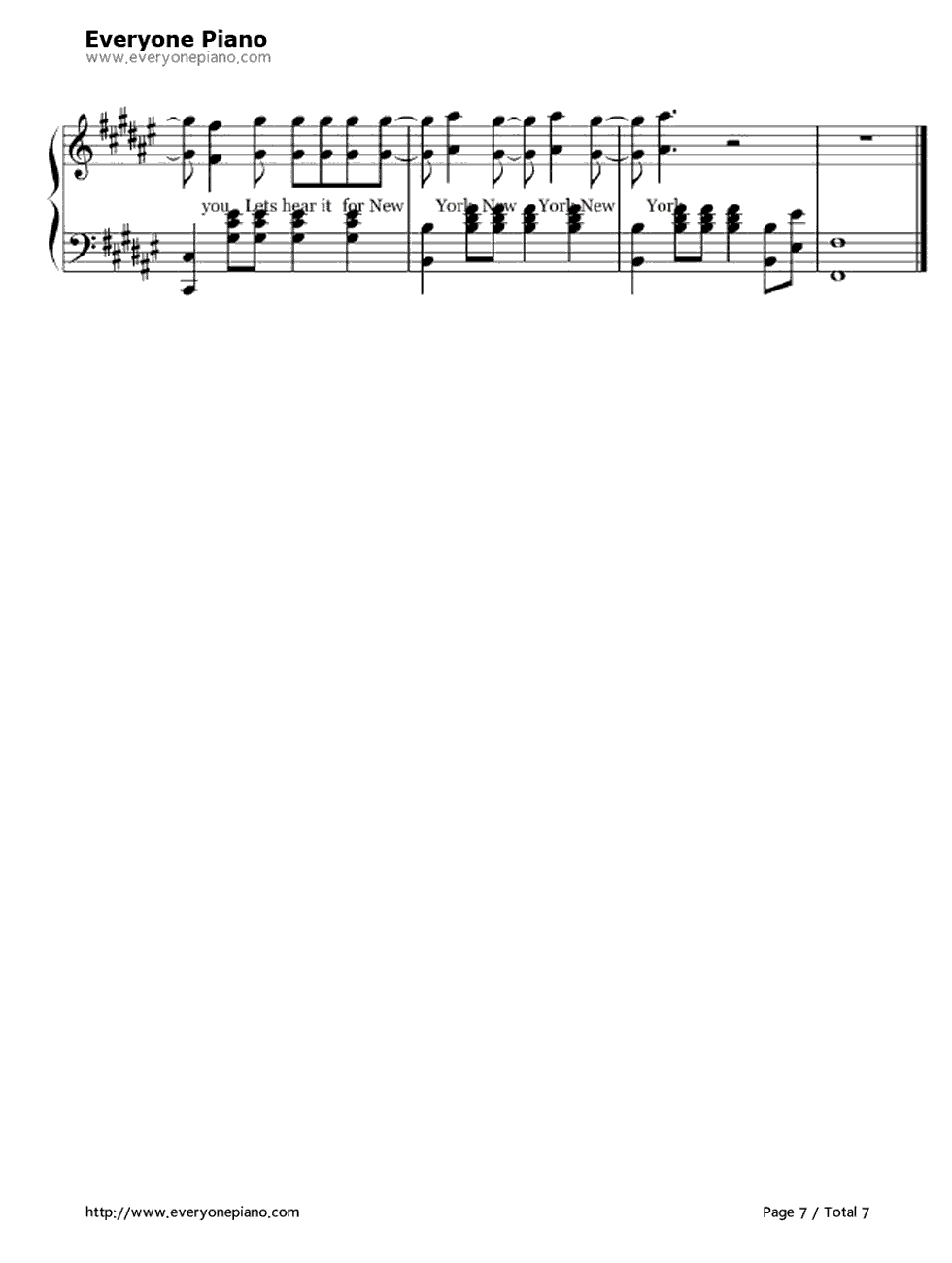 empire state of mind piano pdf
