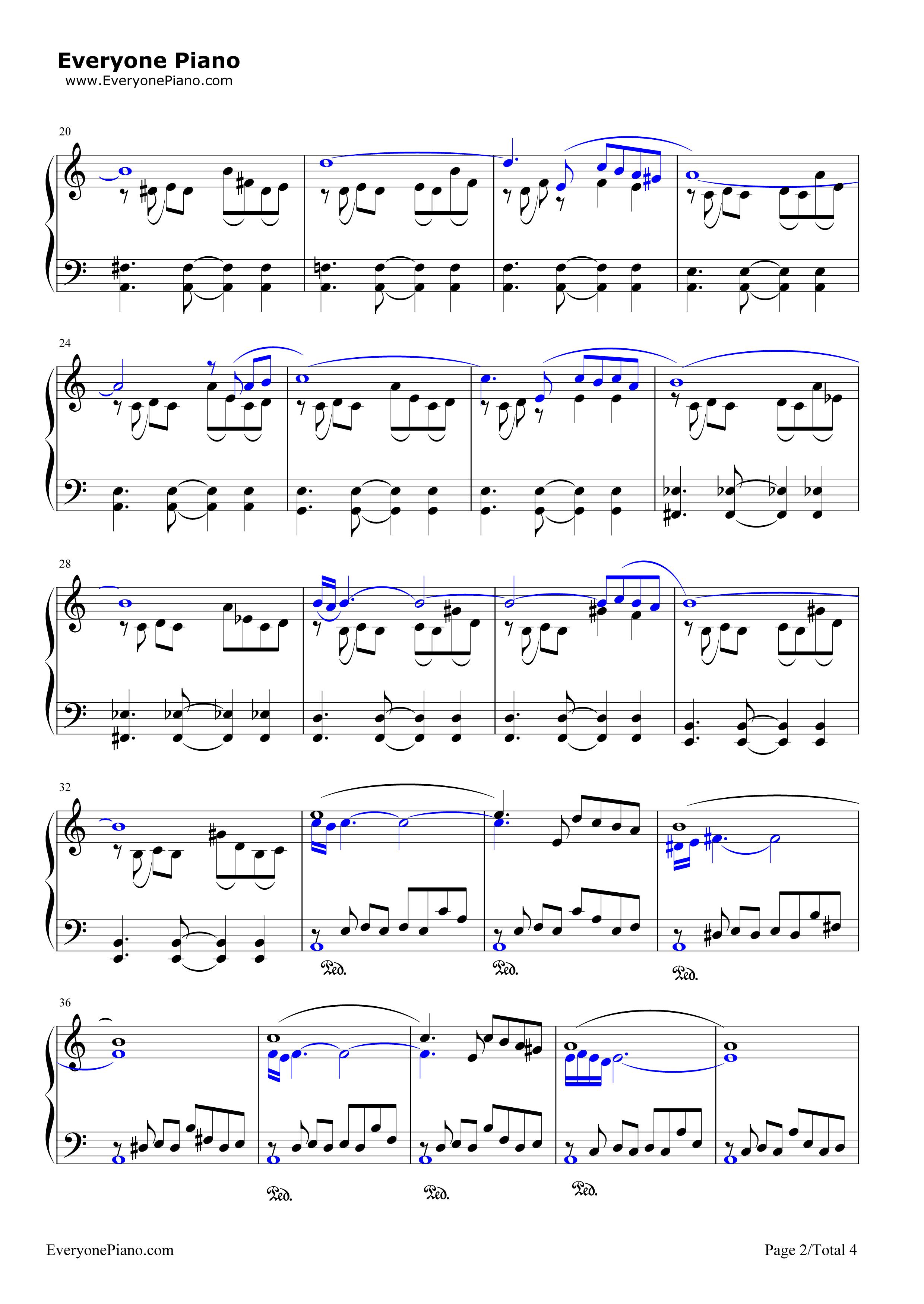 自由探戈-libertango-皮亚佐拉五线谱预览2