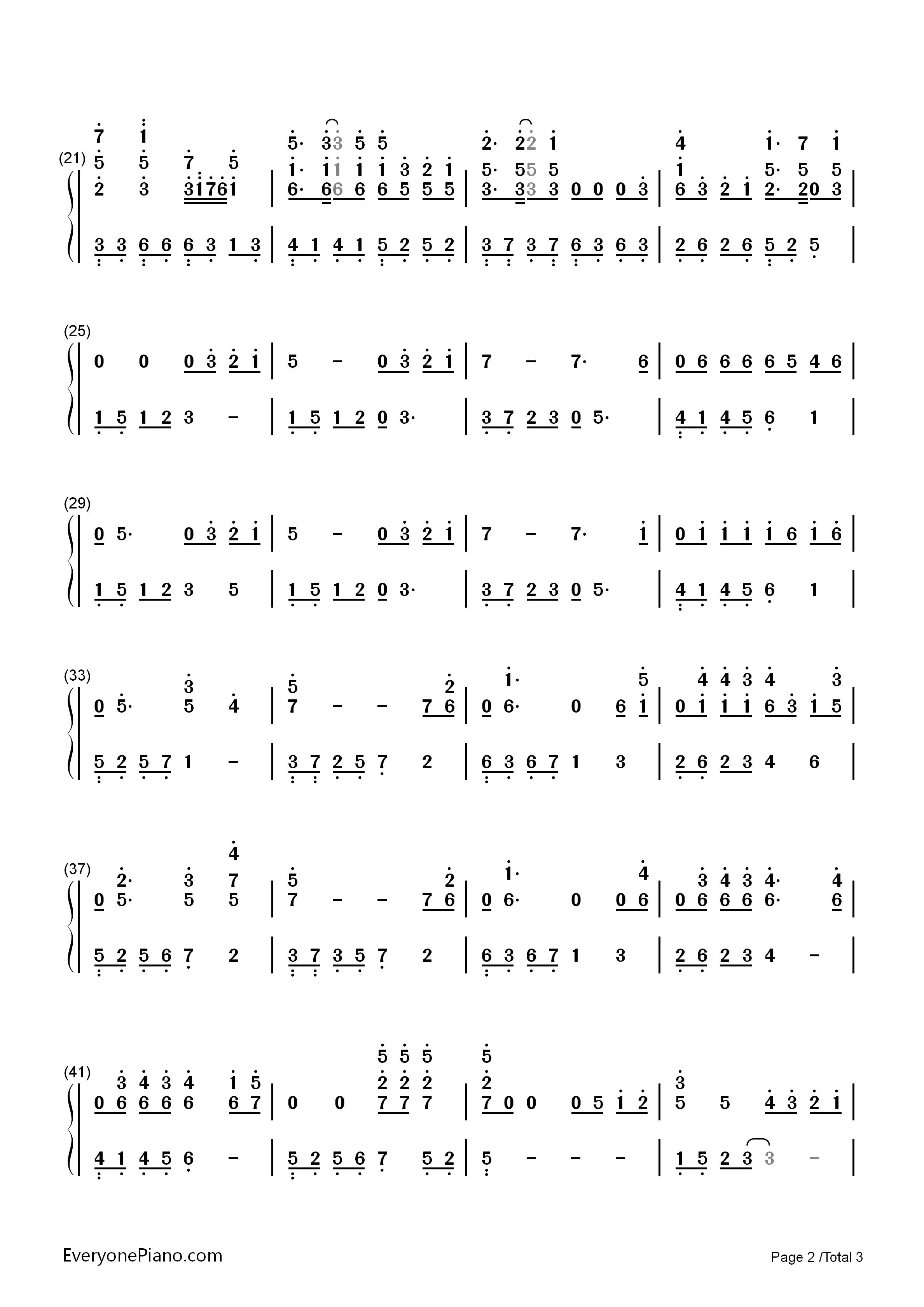 钢琴曲谱 流行 青春修炼手册-tfboys 青春修炼手册-tfboys双手简谱