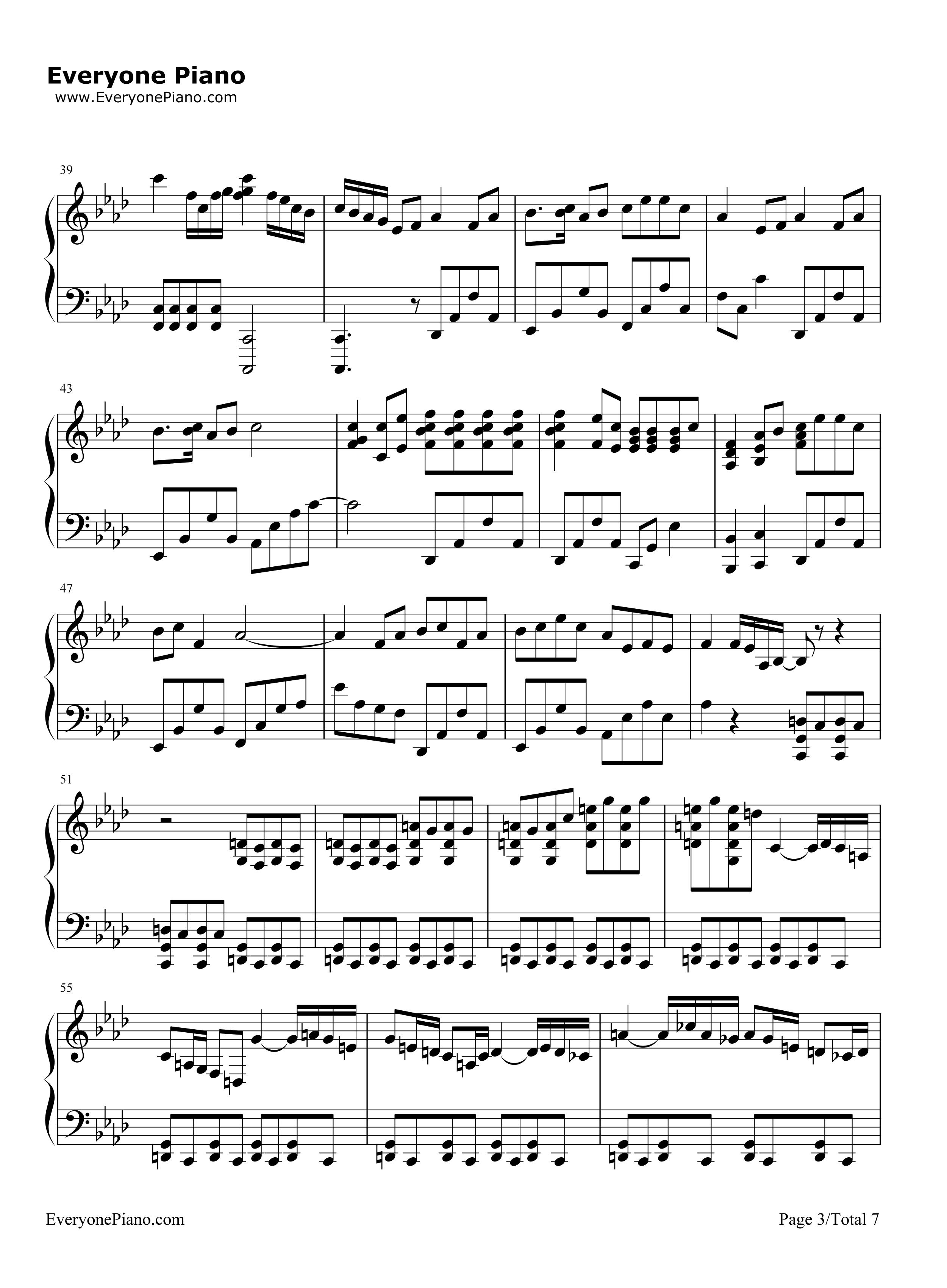 网站首页 钢琴曲谱 轻音乐 asian dream song-久石让 >> asian dream