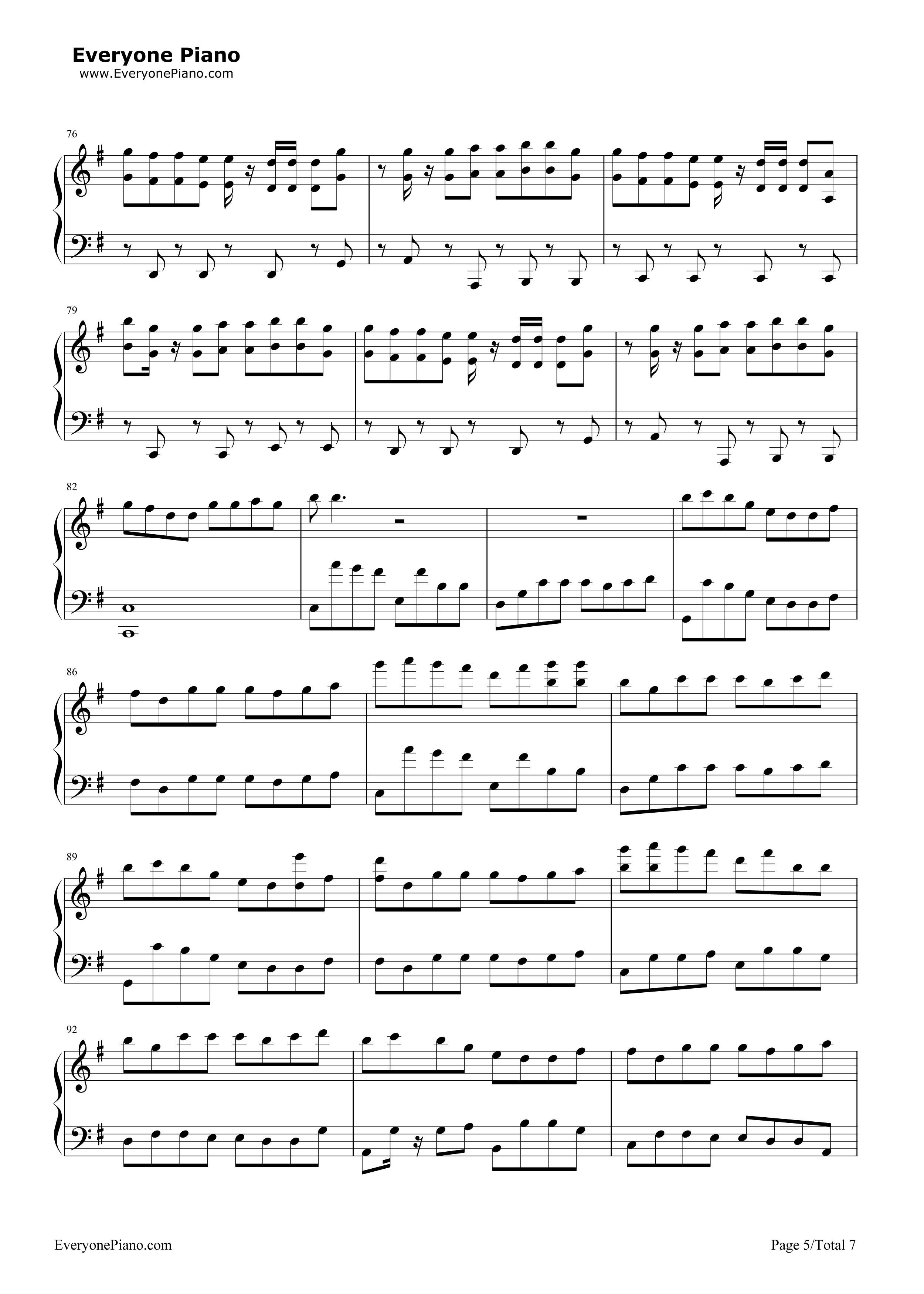 五线谱预览5 钢琴谱文件 五线谱 双手简谱 数字谱 Midi PDF 免费下载