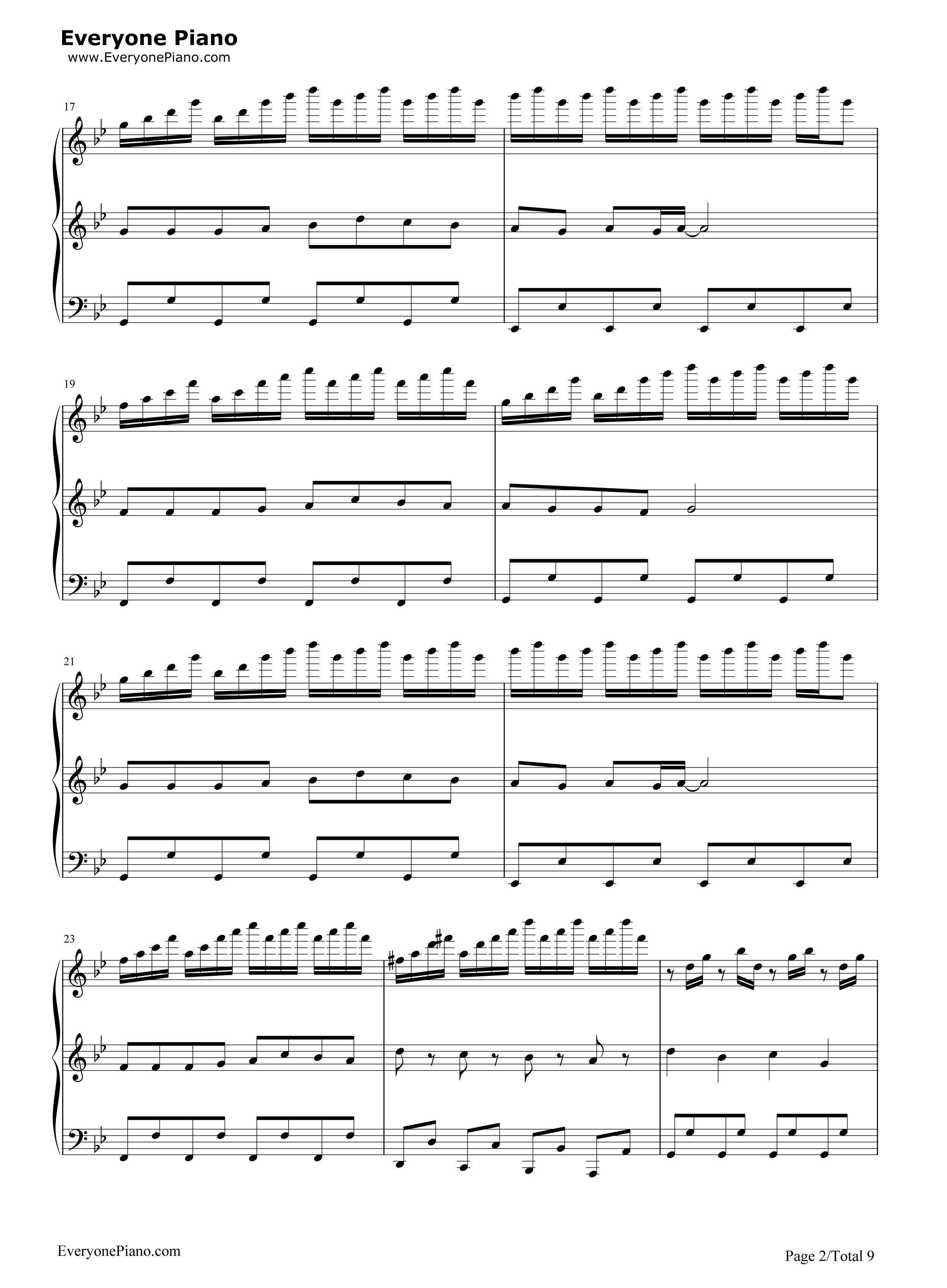 小苹果-三声部版-筷子兄弟五线谱预览2