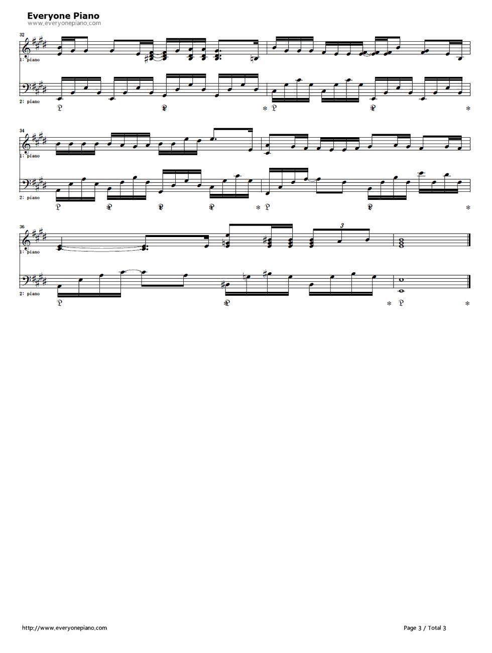 スターラブレイション-最后的灰姑娘 主题曲五线谱预览3