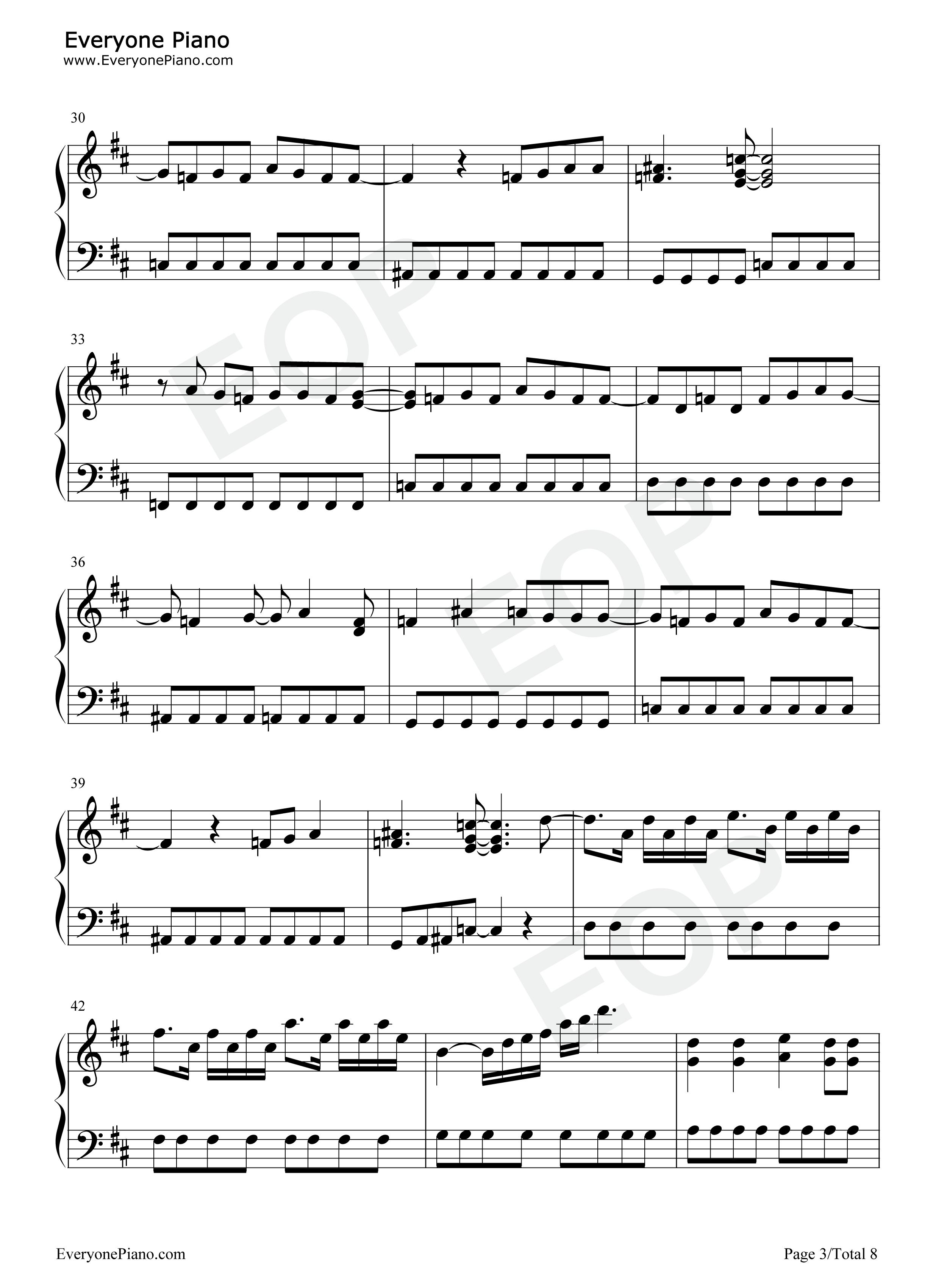 钢琴曲谱 动漫 believe-海贼王op2