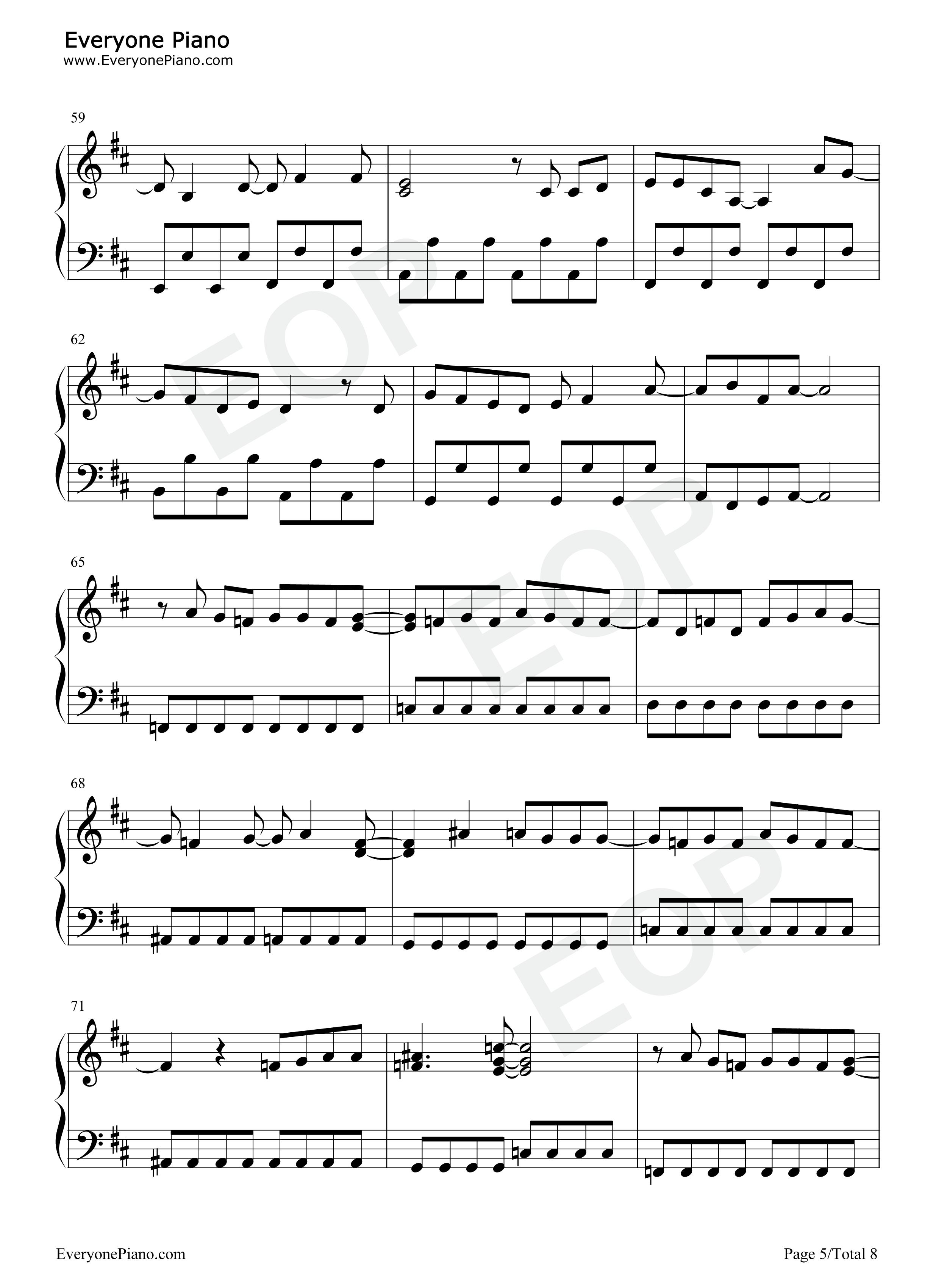 believe-海贼王op2五线谱预览5