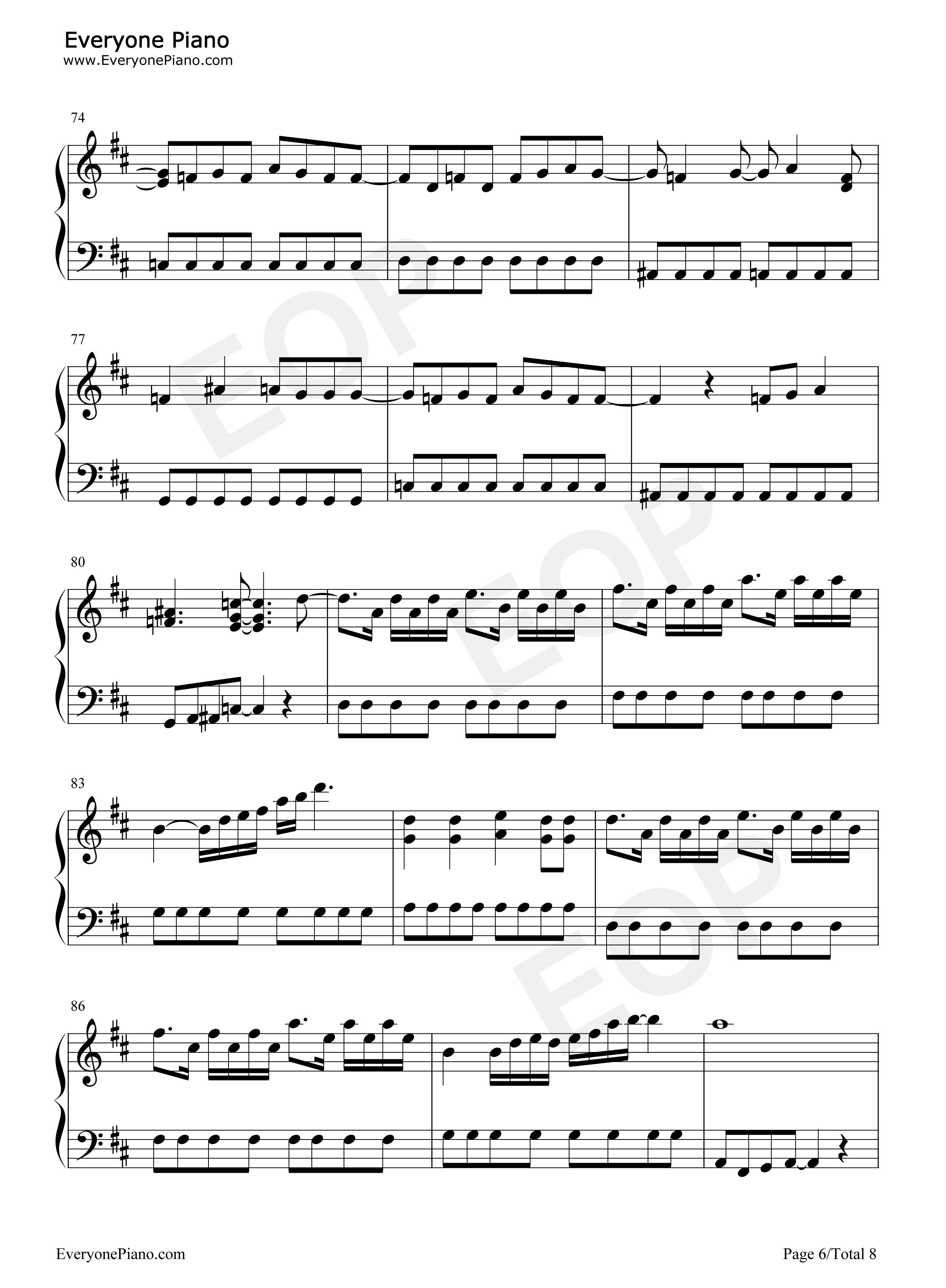 believe-海贼王op2五线谱预览6