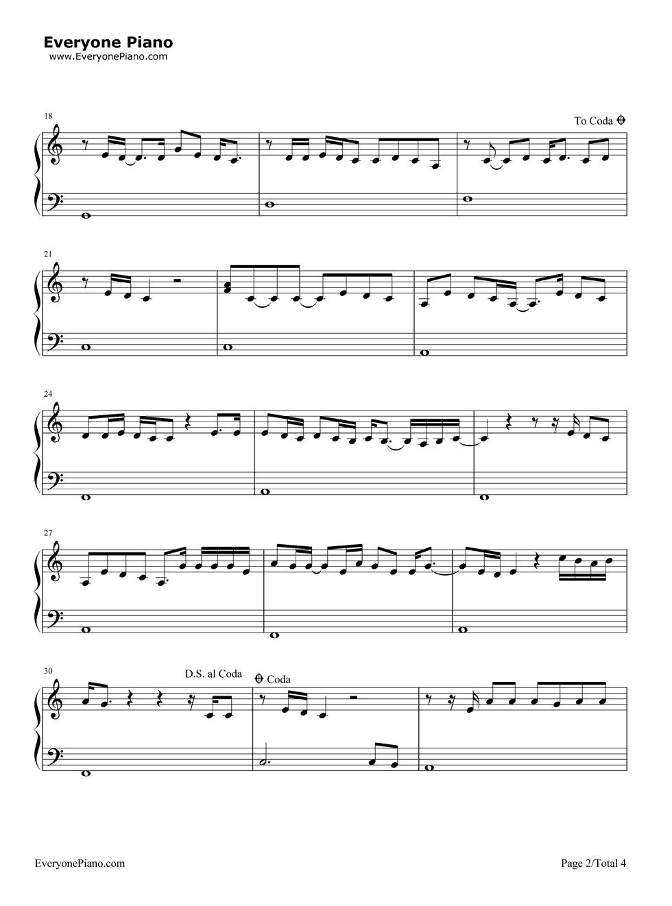 五线谱预览2 钢琴谱文件 五线谱 双手简谱 数字谱 Midi PDF 免费下载