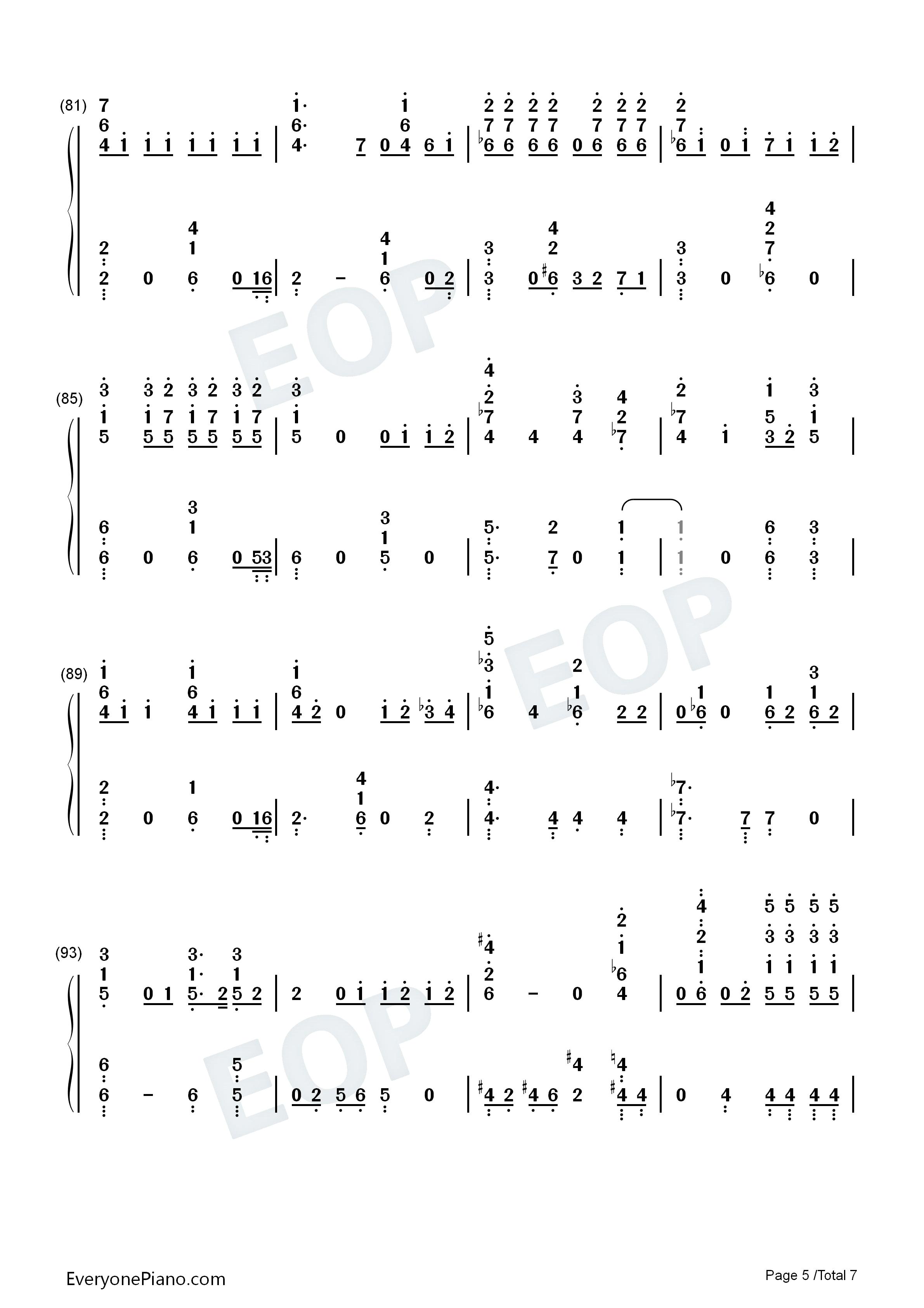 moonlight-月光-exo 双手简谱预览5