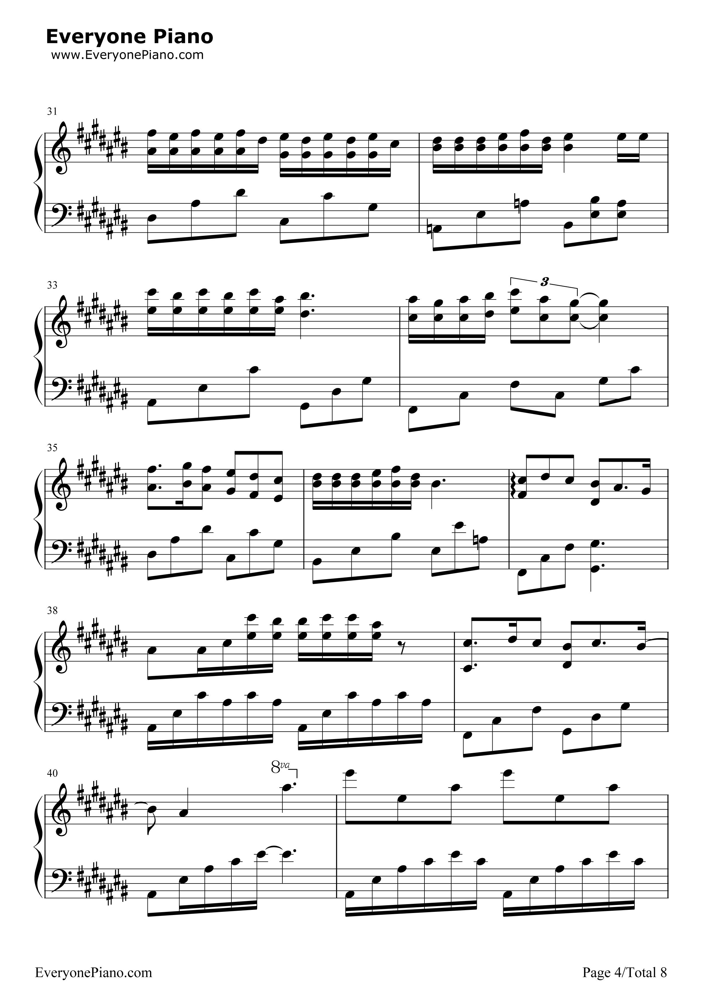 匆匆那年-匆匆那年主题曲五线谱预览4-钢琴谱图片