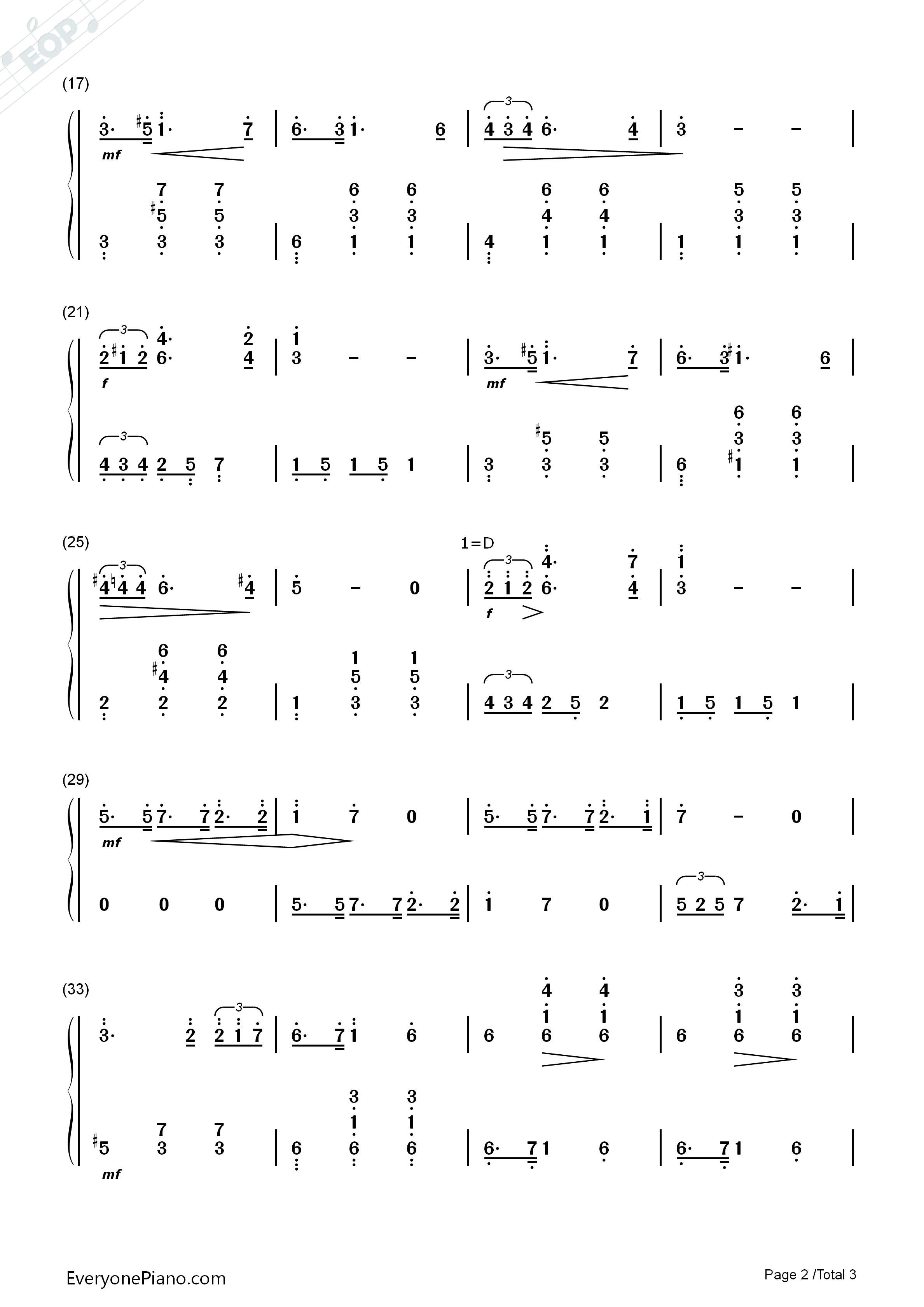 小夜曲-简单版-舒伯特