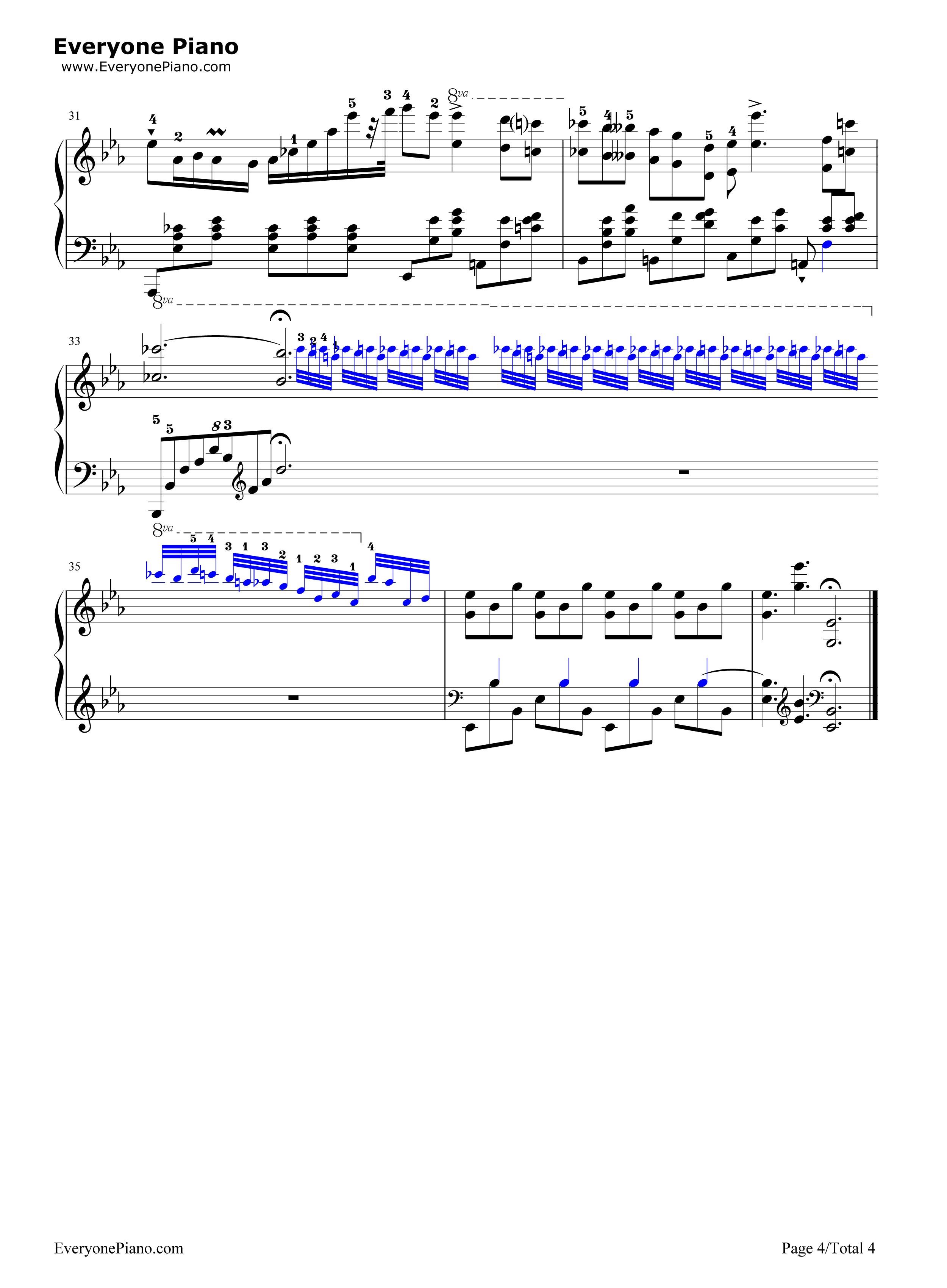 降e大调夜曲-肖邦五线谱预览4