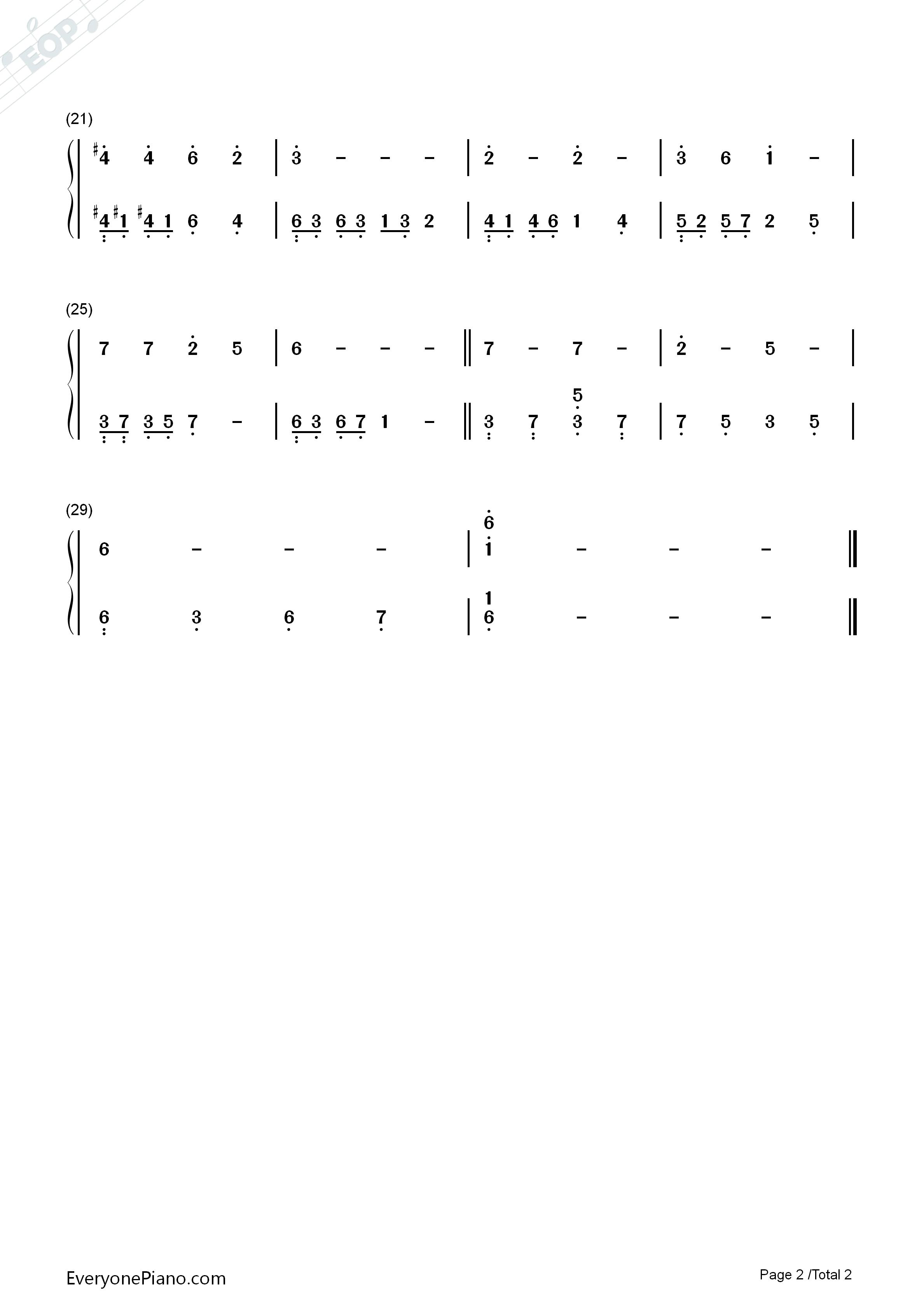 菩萨蛮钢琴简谱