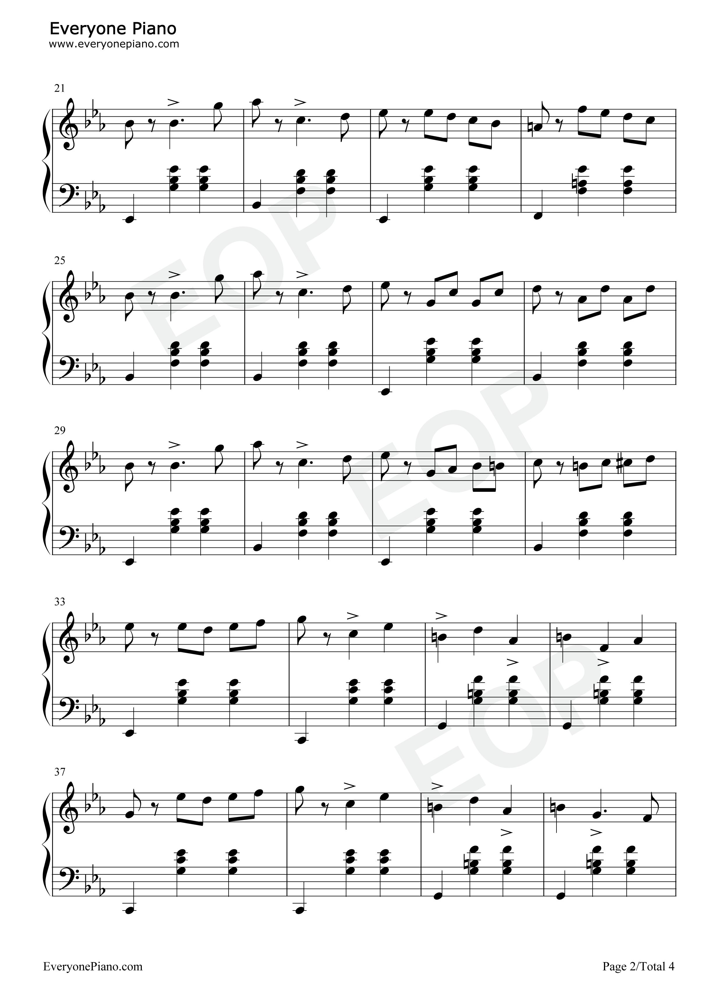钢琴曲谱 练习曲 降e大调圆舞曲-柴可夫斯基 降e大调圆舞曲-柴可夫