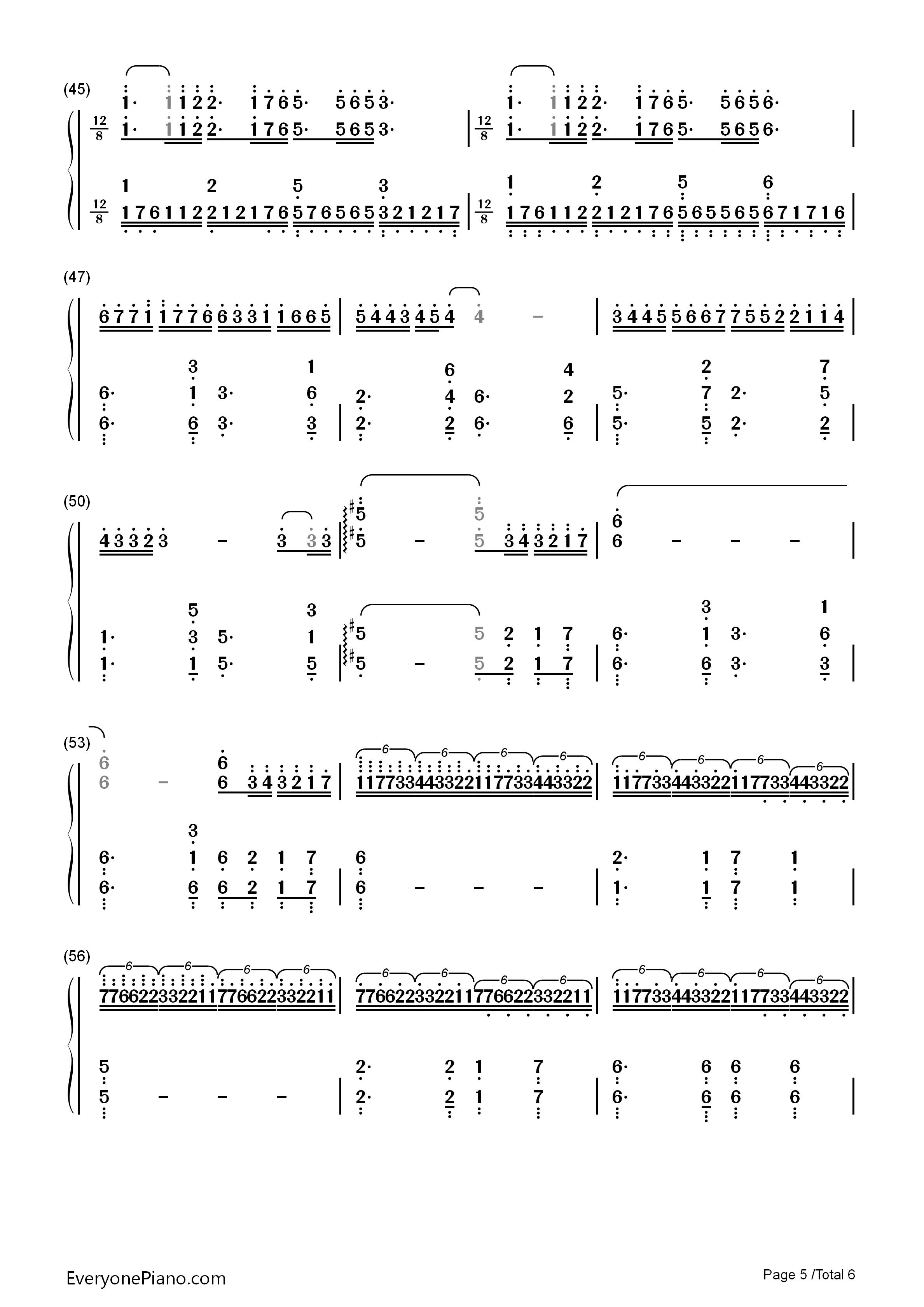 梦中的婚礼-改编版-理查德克莱德曼双手简谱预览5