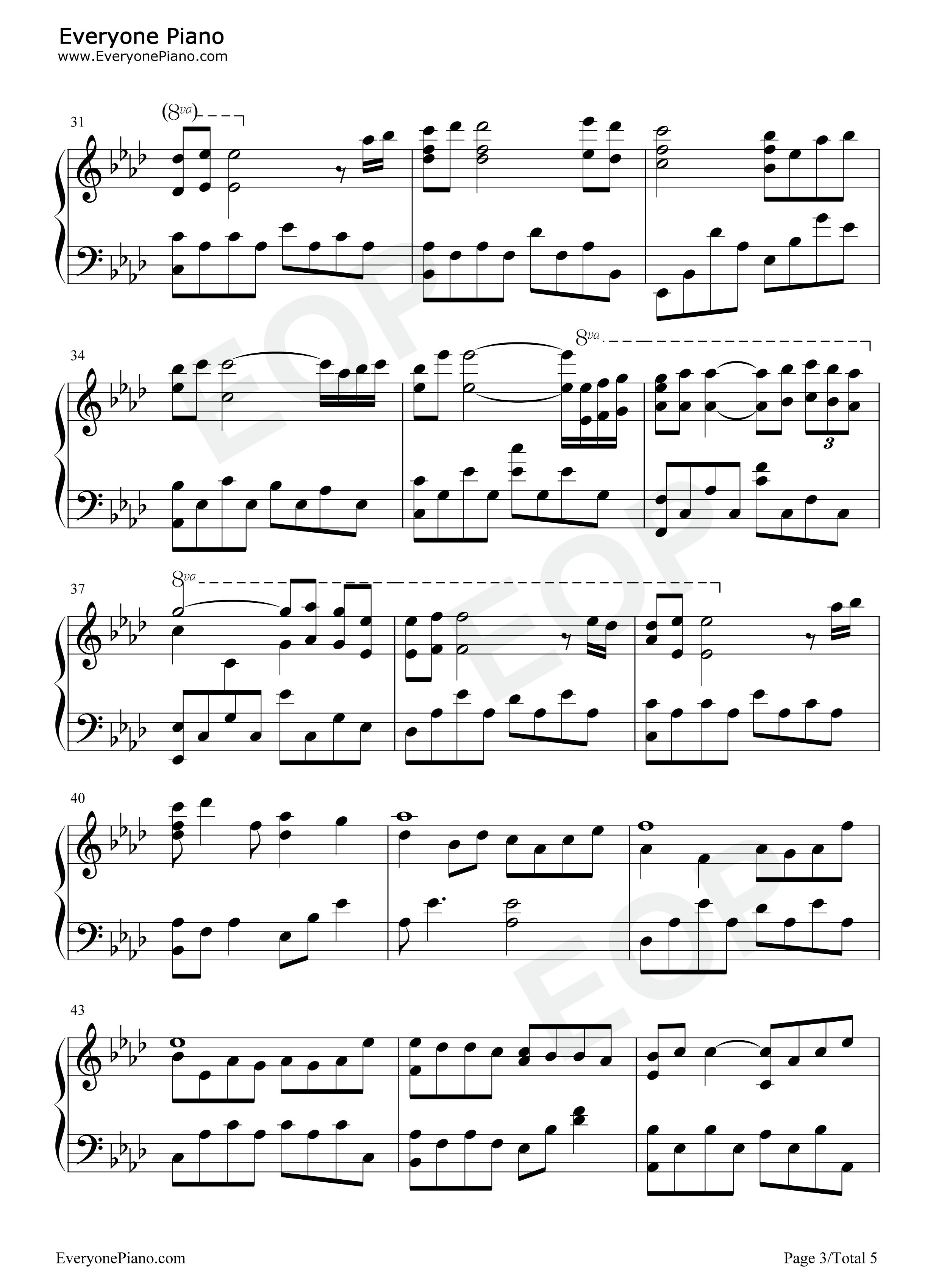 网站首页 钢琴曲谱 轻音乐 kiss the rain原版-雨的印记-李闰珉 >>