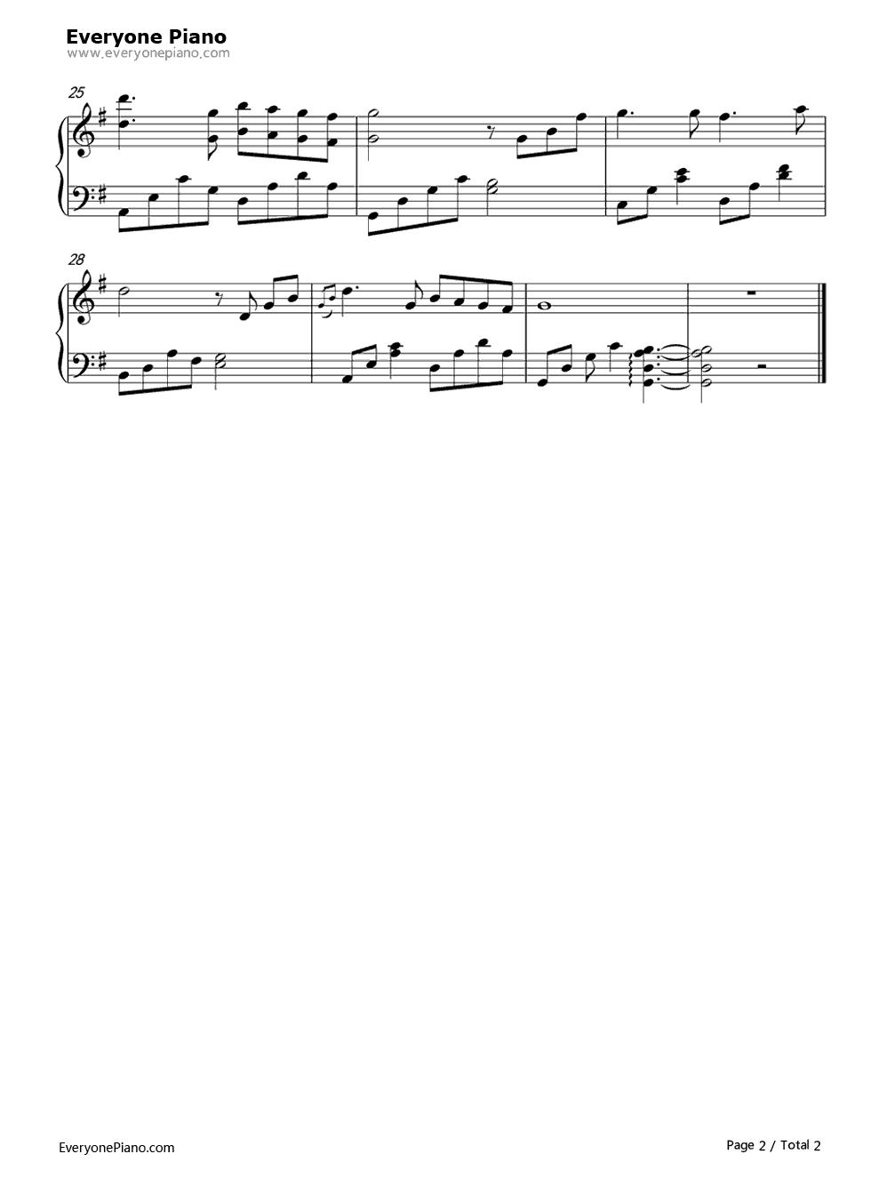 钢琴曲谱 流行 周杰伦婚礼音乐-周杰伦 周杰伦婚礼音乐-周杰伦五线谱