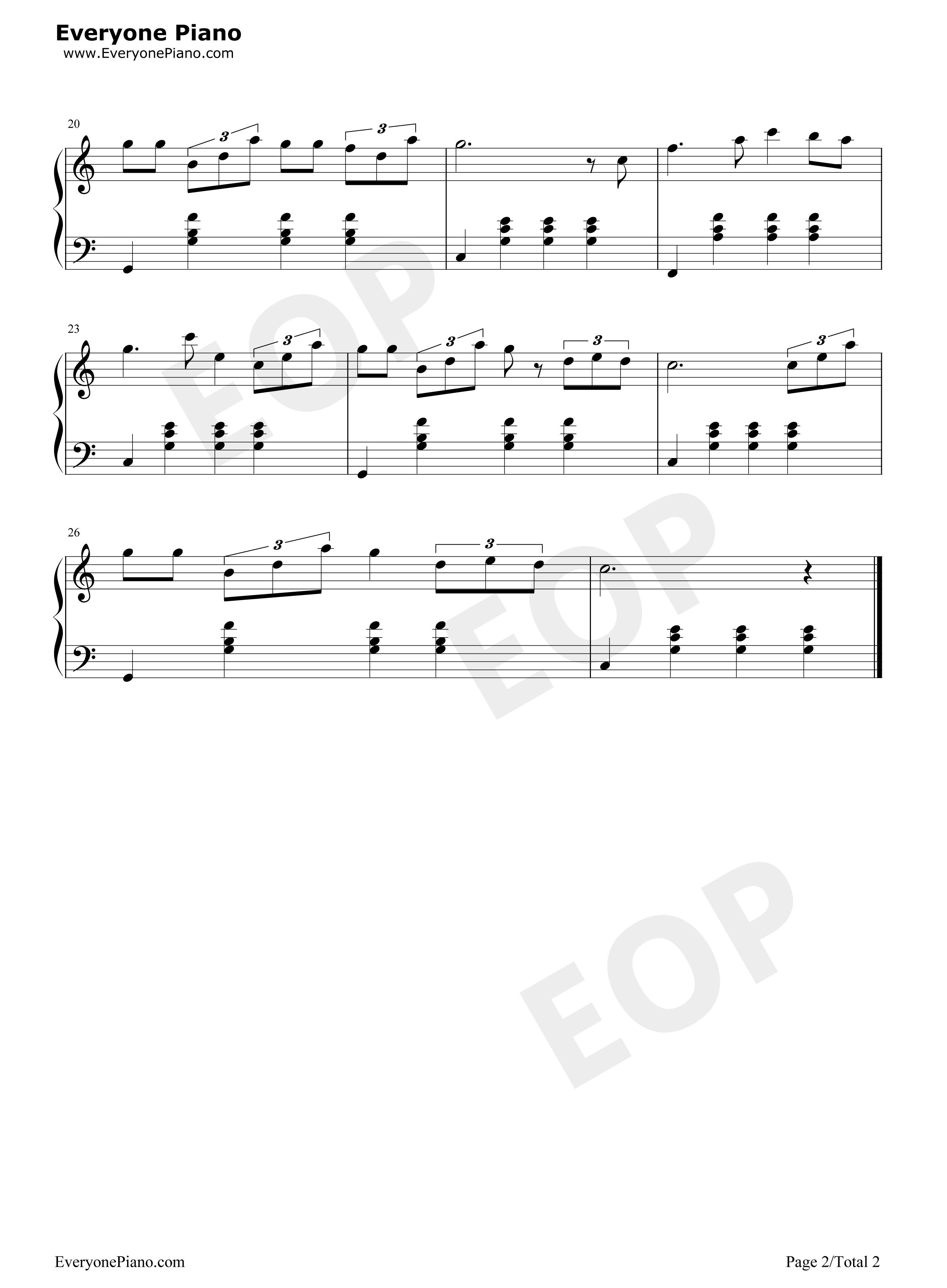 钢琴曲谱 流行 东方之珠-罗大佑