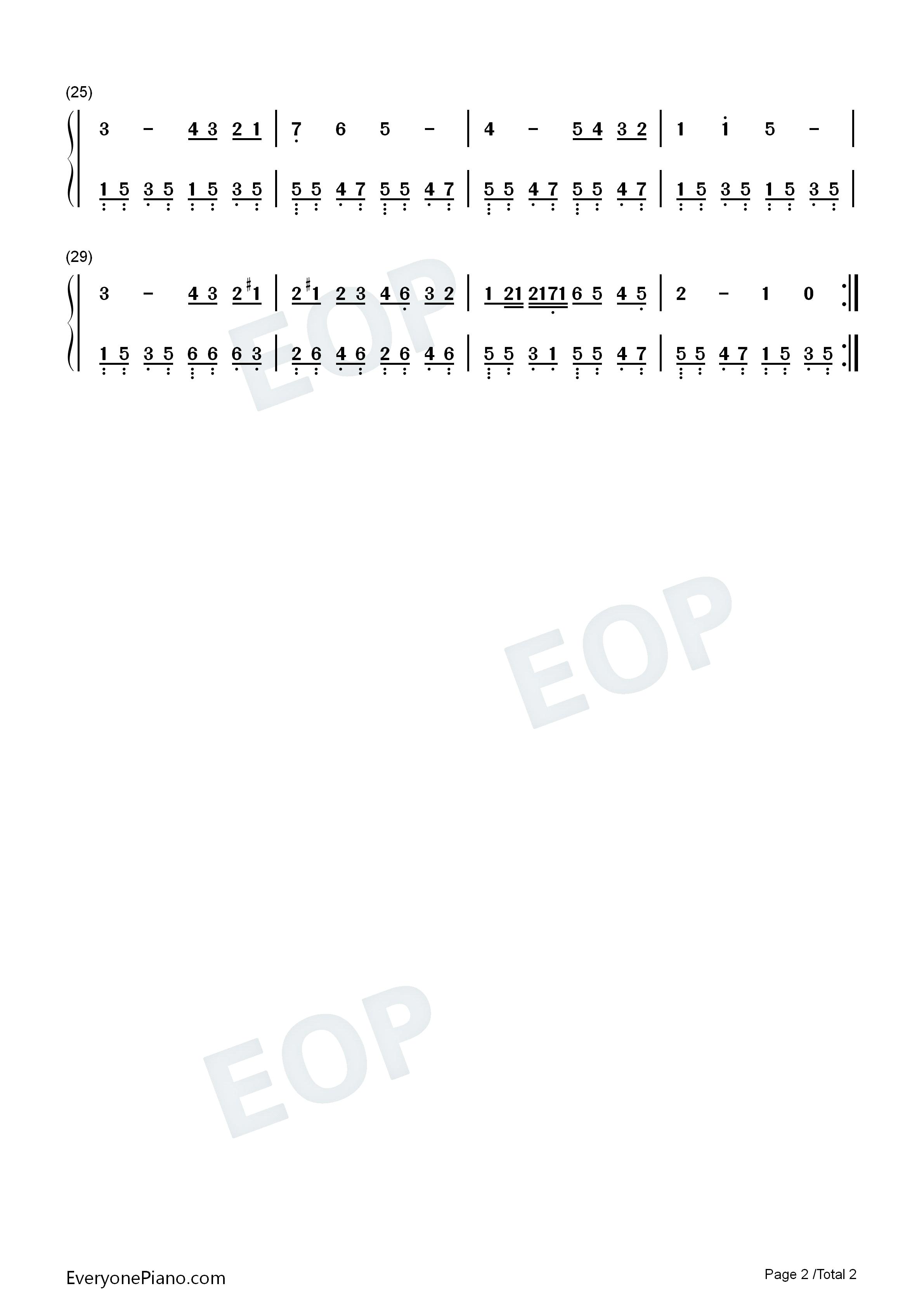 葬礼进行曲-肖邦双手简谱预览2-钢琴谱文件(五线谱图片