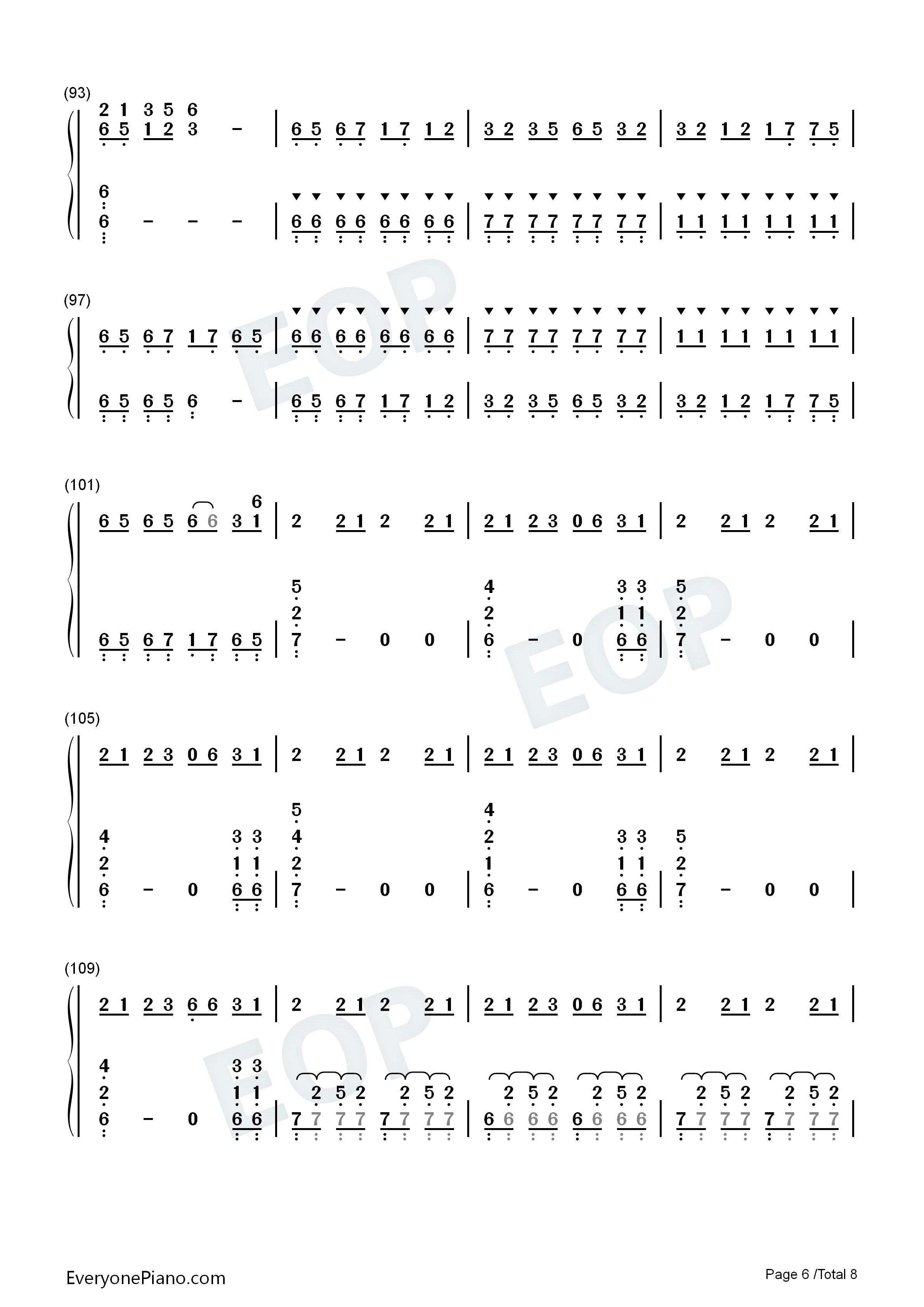 权御天下-洛天依双手简谱预览6-钢琴谱文件(五线谱
