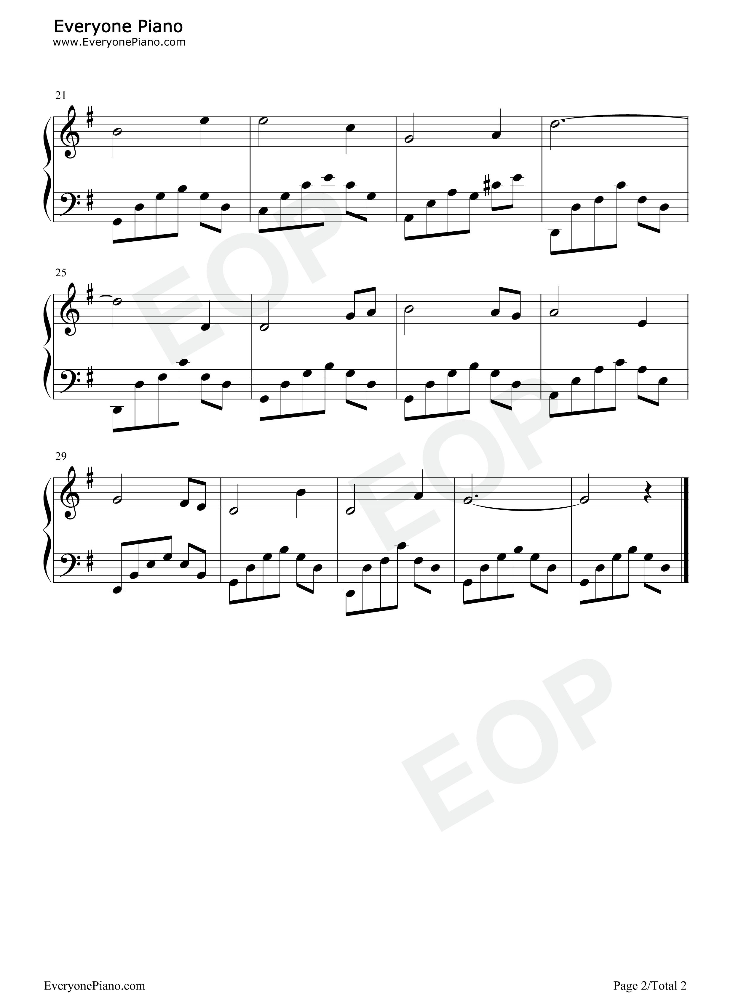 钢琴曲谱 流行 海滨之歌-浜辺の歌-日本歌曲 海滨之歌-浜辺の歌-日本