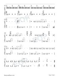 心动-心动主题曲双手简谱预览2-钢琴谱图片