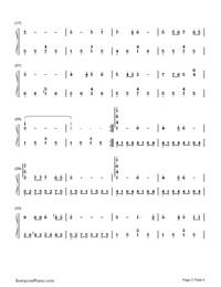 同一首歌-同一首歌主题曲双手简谱预览4-钢琴谱(,双手图片