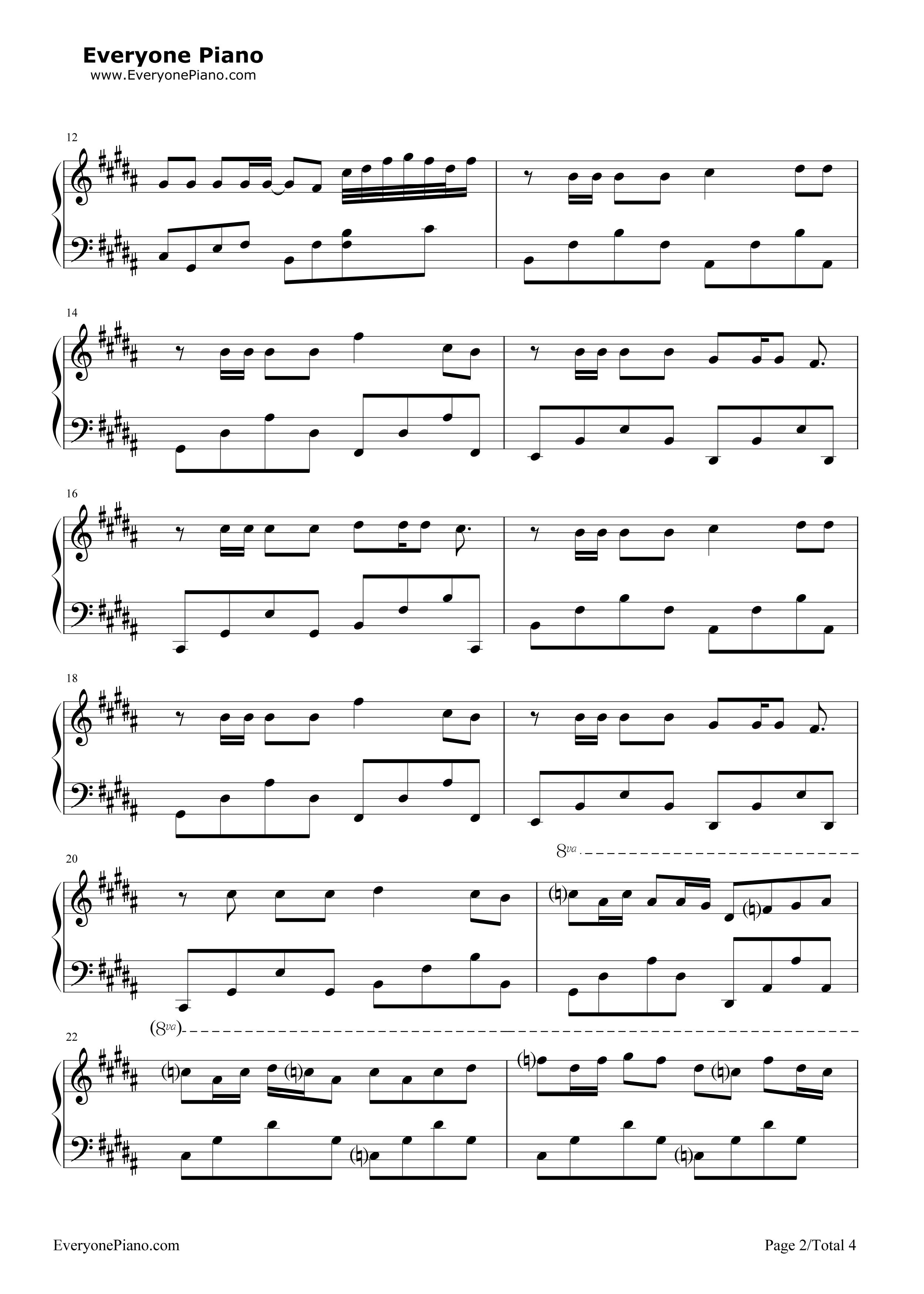 凤求凰-古琴曲五线谱预览2-钢琴谱(五线谱,双手简谱)图片