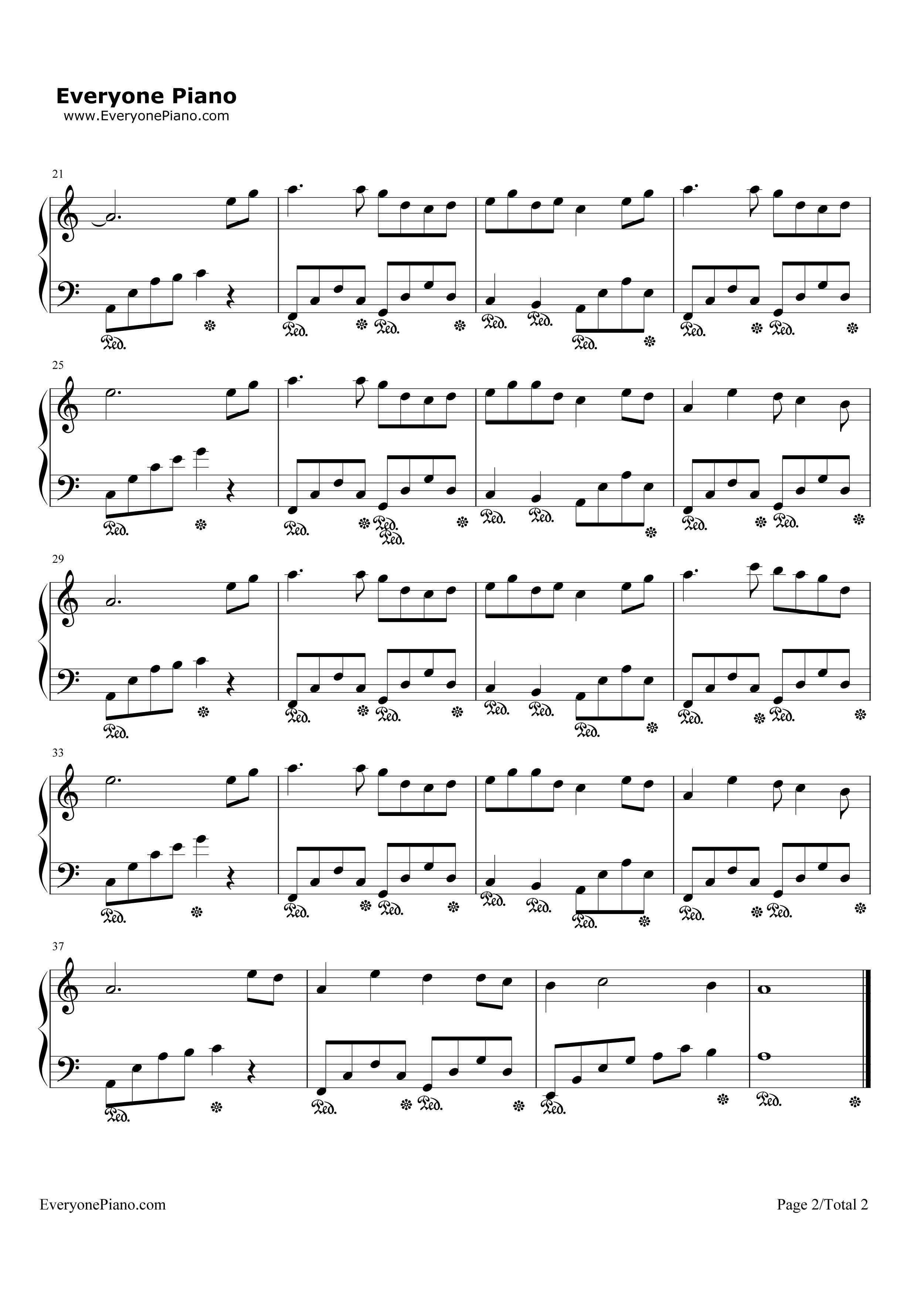 钢琴曲谱 流行 三寸天堂-步步惊心片尾曲 三寸天堂-步步惊心片尾曲