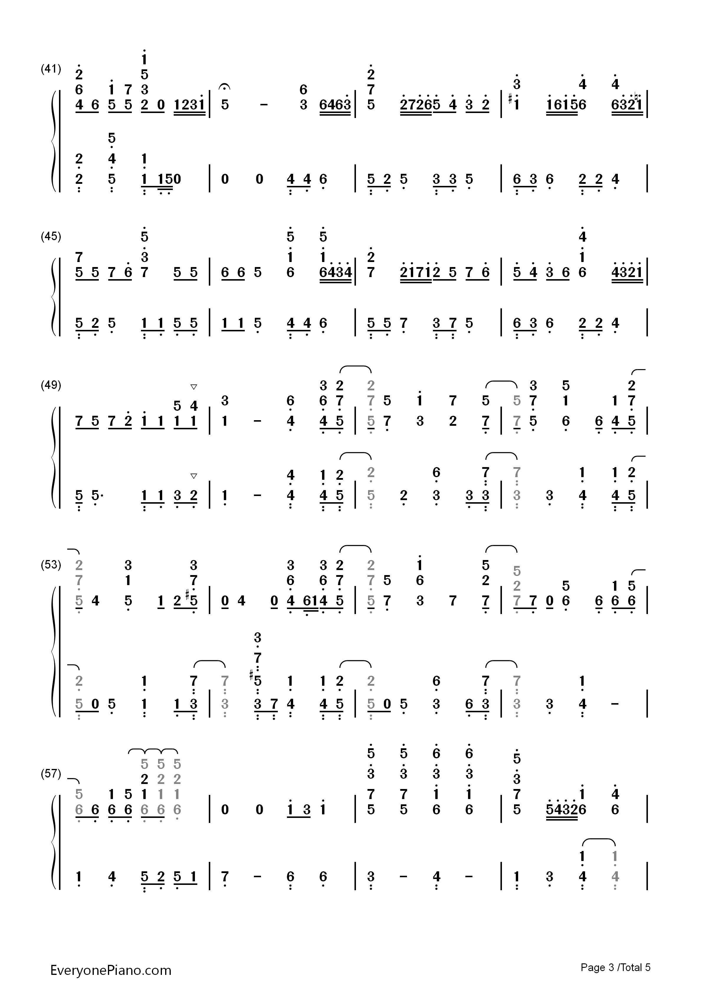 小星星幻想曲-v.k克双手简谱预览3-钢琴谱