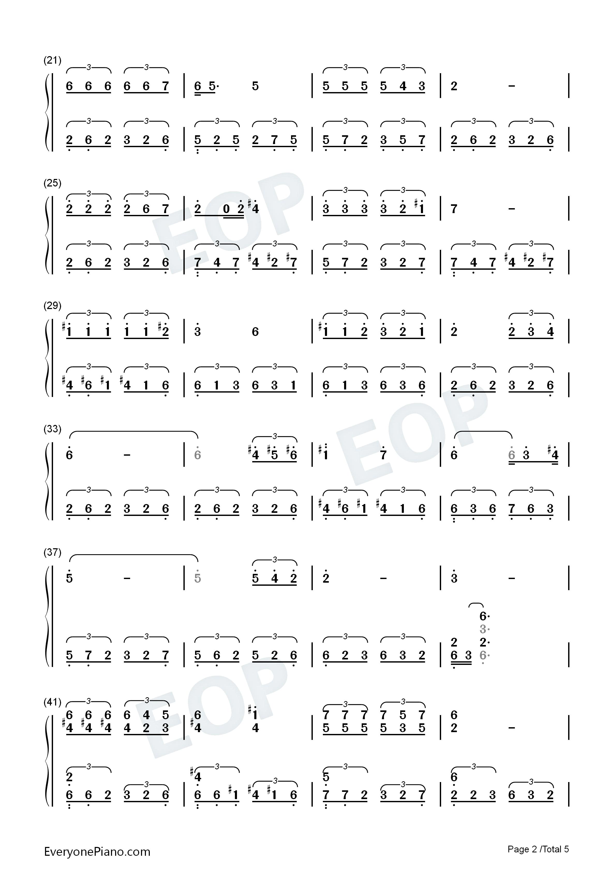 同桌的你-华丽版双手简谱预览2