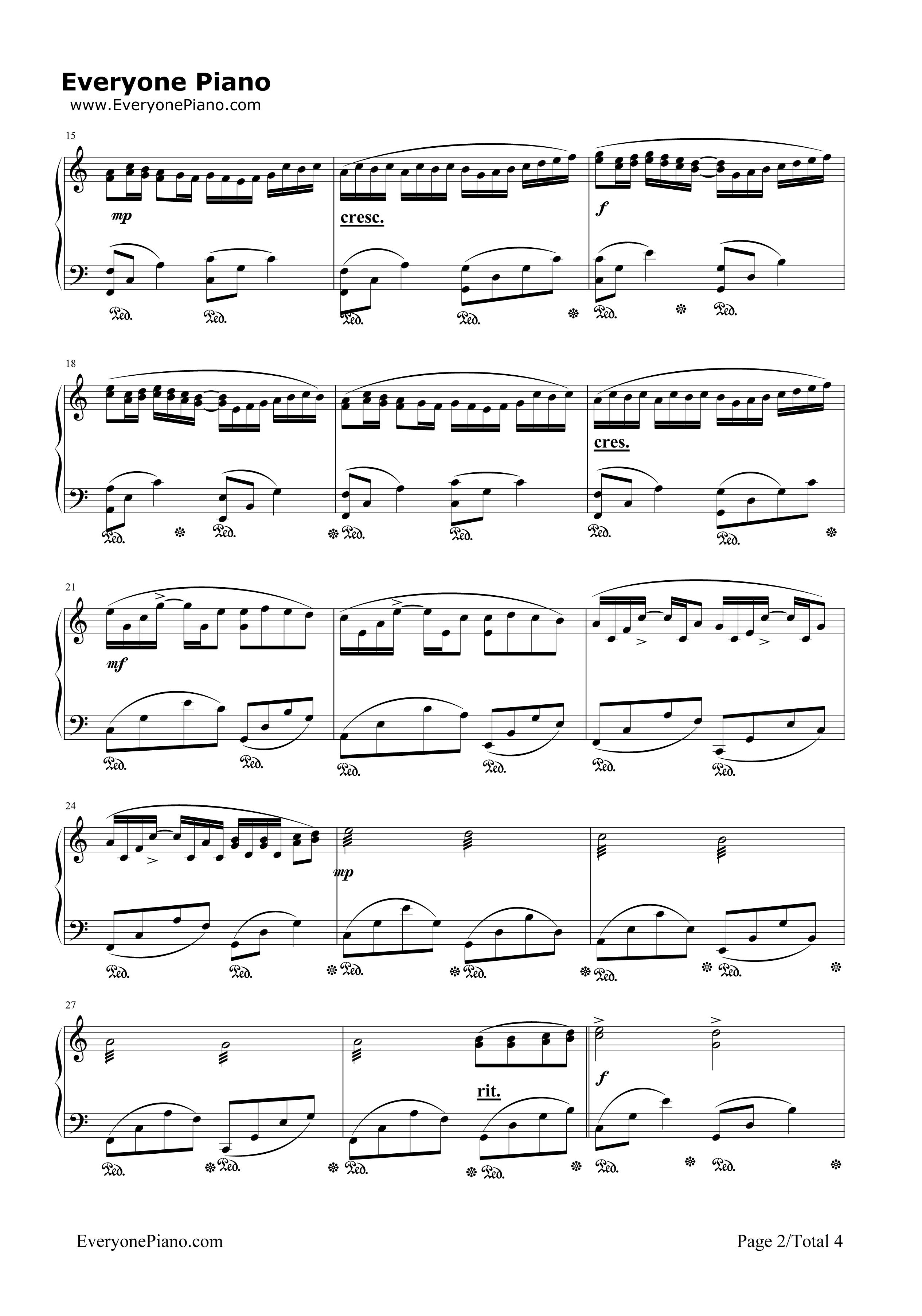 钢琴曲谱 经典 卡农弹奏版-我的野蛮女友插曲 卡农弹奏版-我的野蛮
