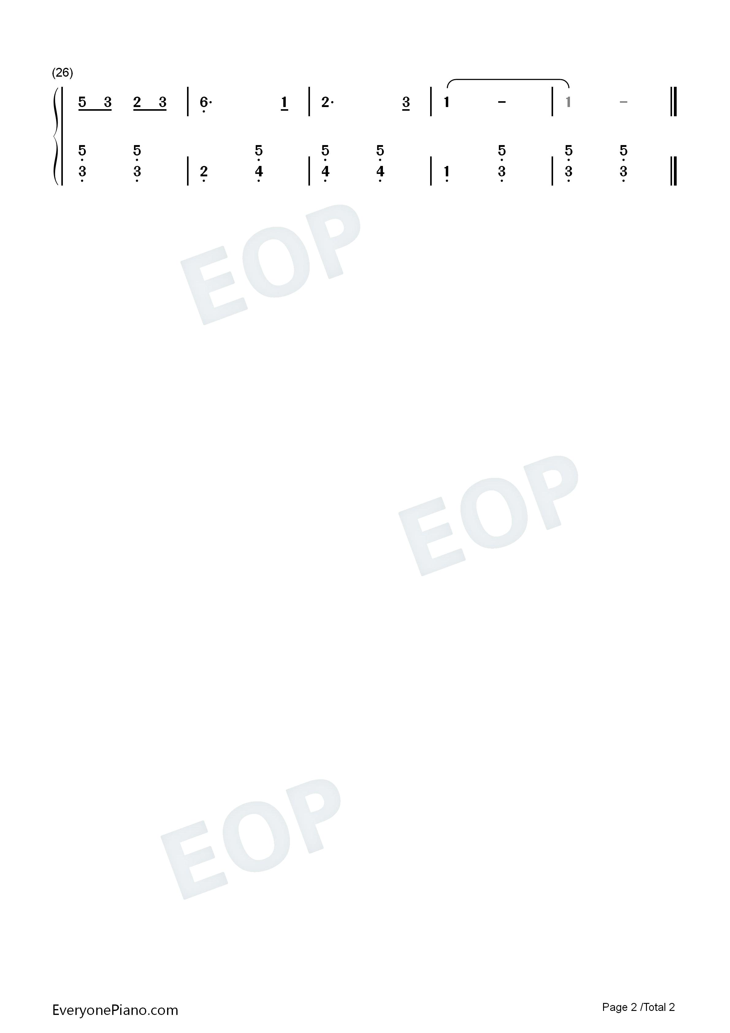 卖报歌 儿童歌曲双手简谱预览 EOP在线乐谱架