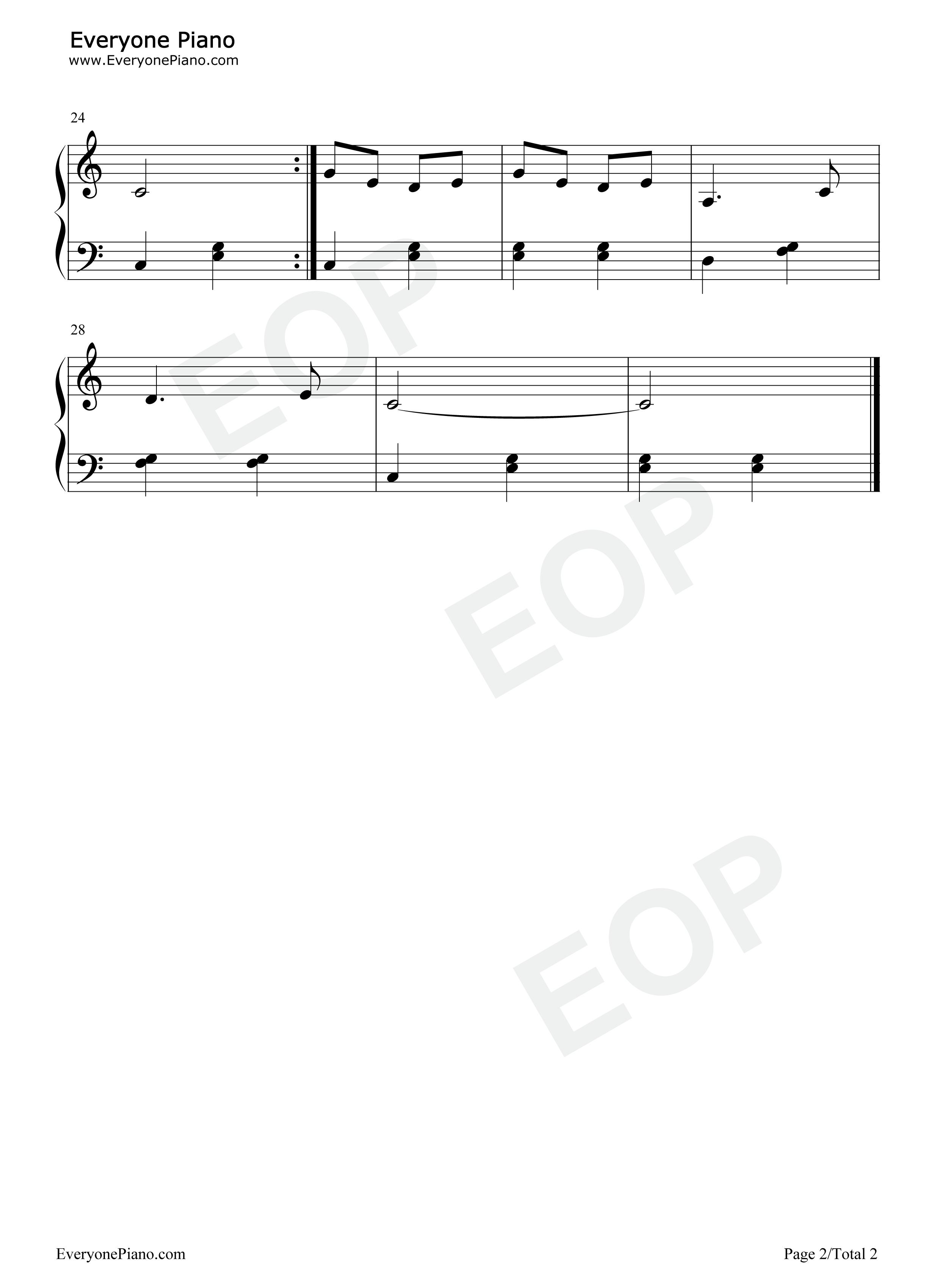 卖报歌-儿童歌曲五线谱预览2-钢琴谱(五线谱
