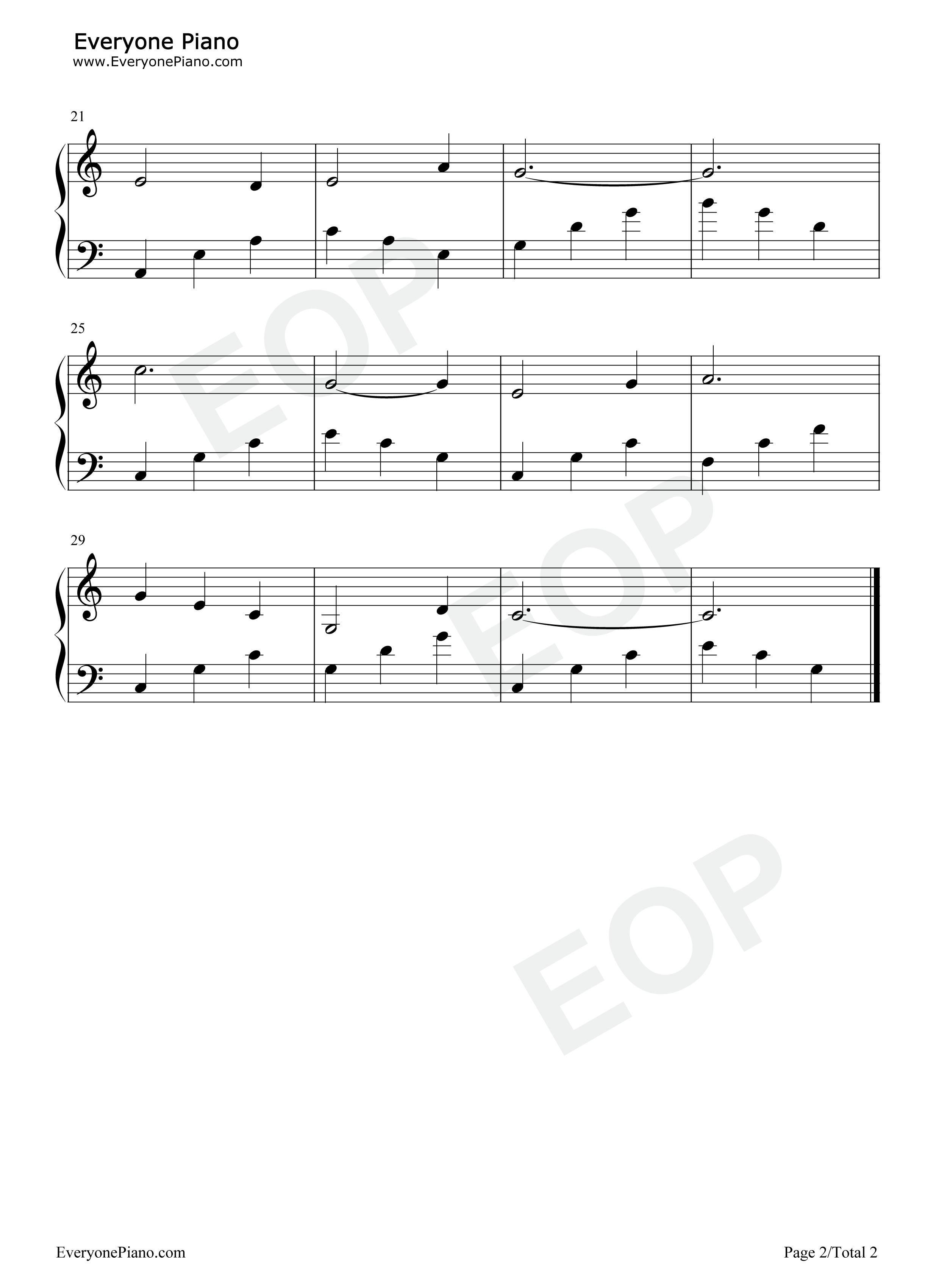 小白船-朝鲜童谣五线谱预览2