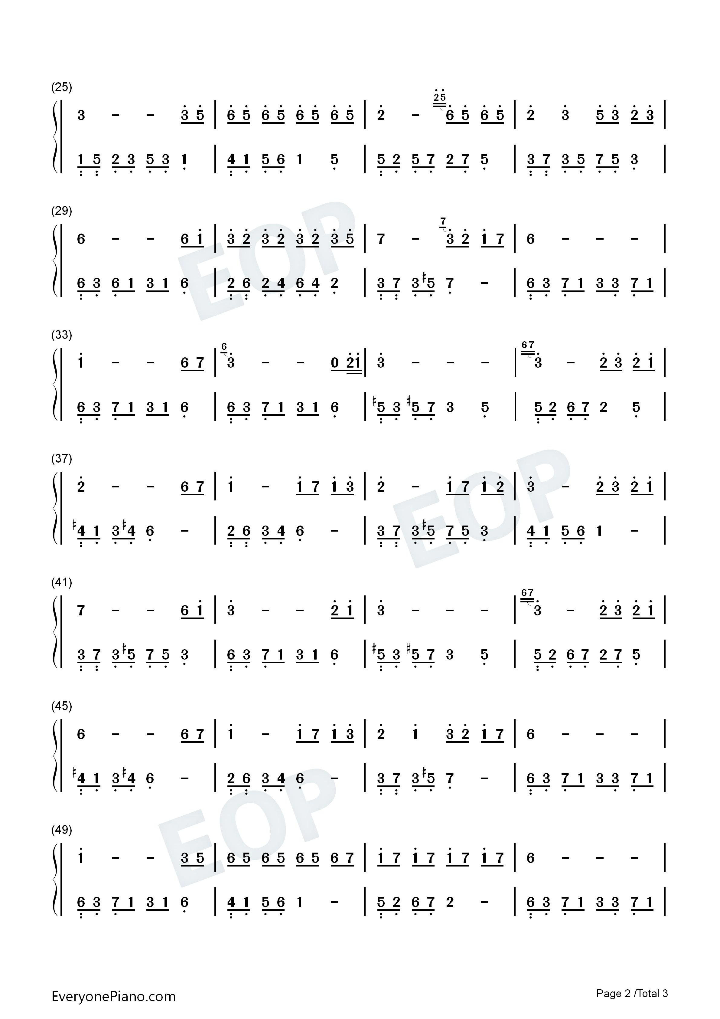 夜的钢琴曲 7双手简谱预览2图片