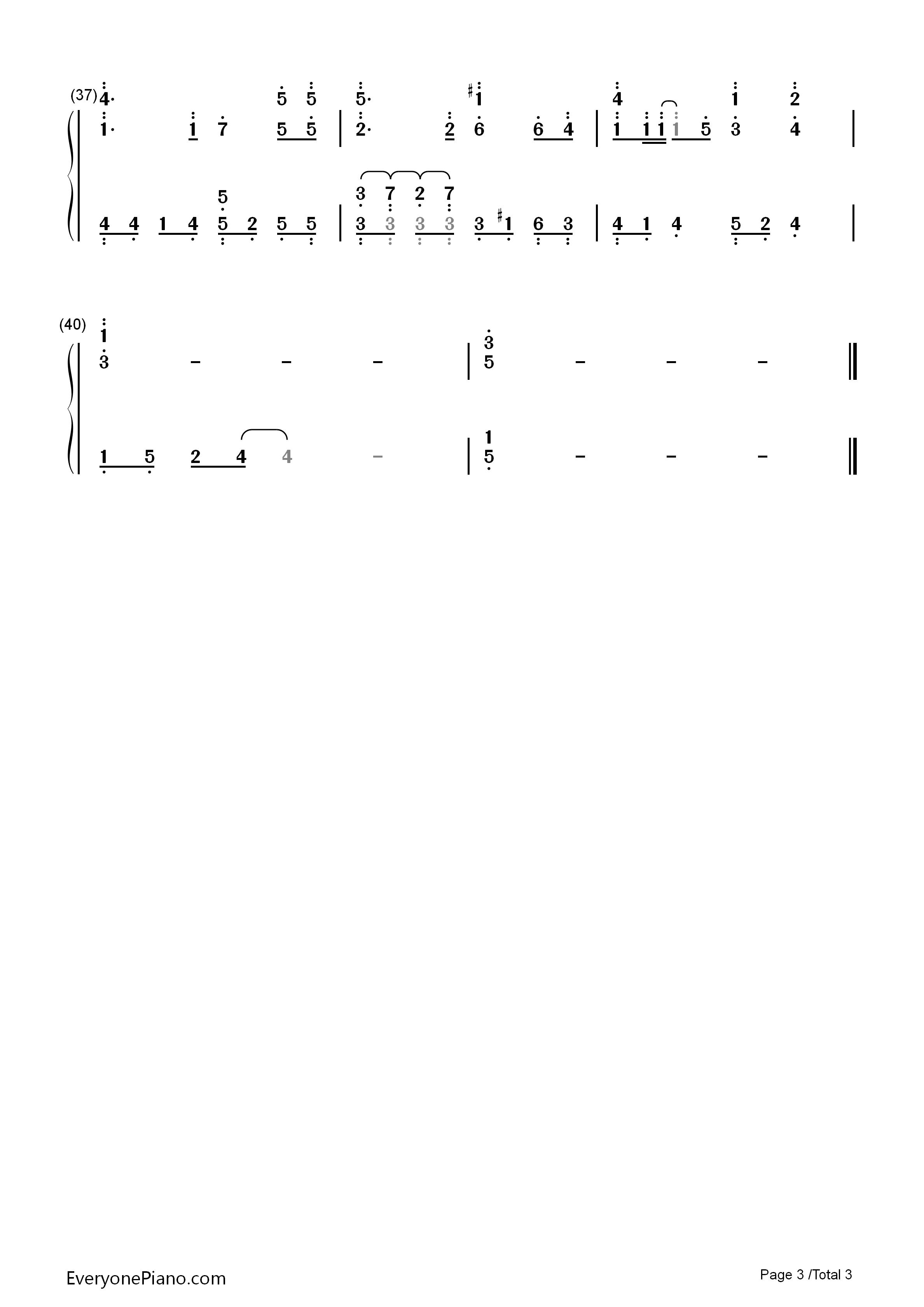 拾忆-一起来看流星雨插曲双手简谱预览3
