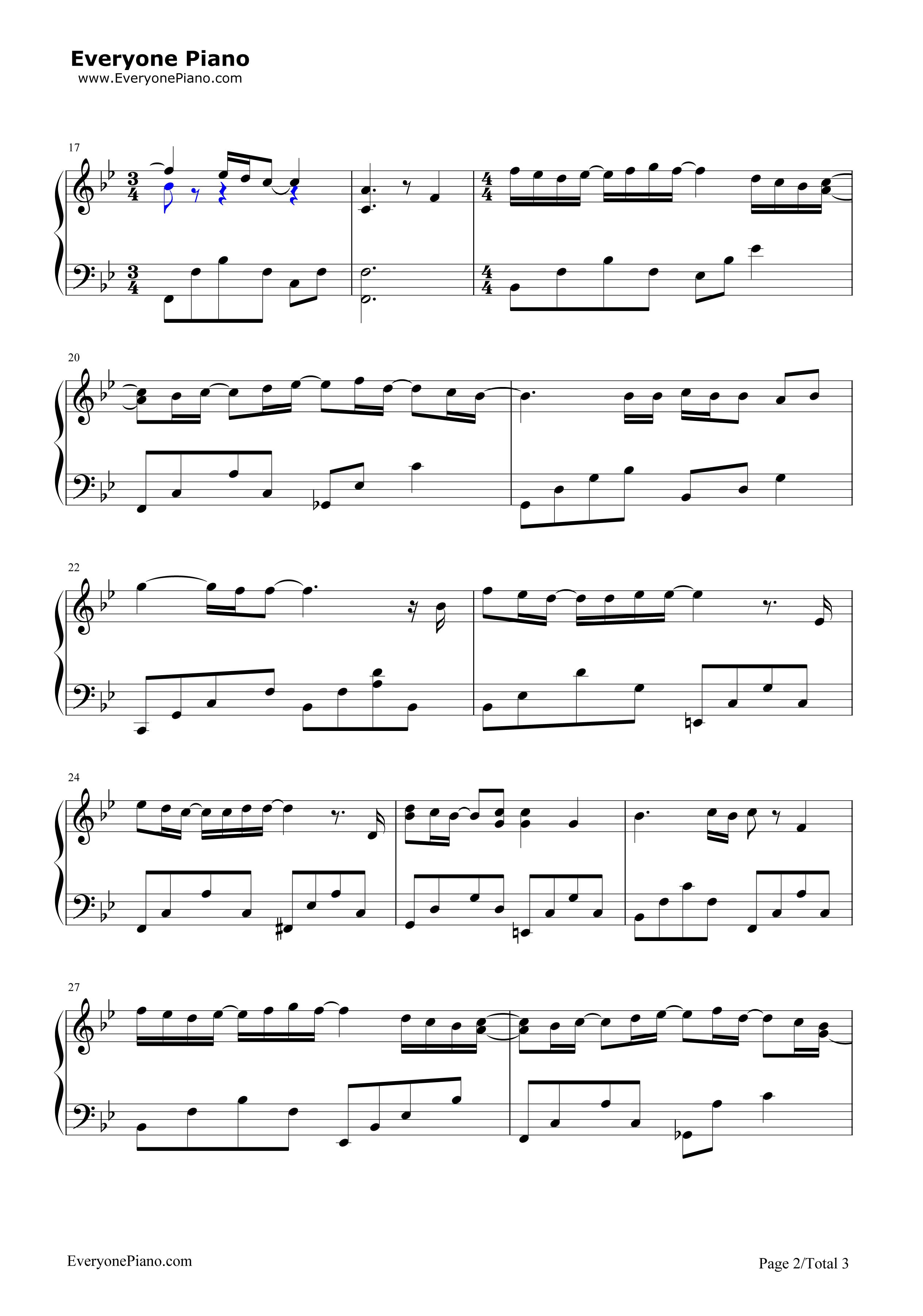 向日葵的约定-向日葵的承诺-哆啦a梦伴我同行主题曲五线谱预览2