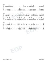 平凡之路-后会无期主题曲双手简谱预览1-钢琴谱(,双手图片