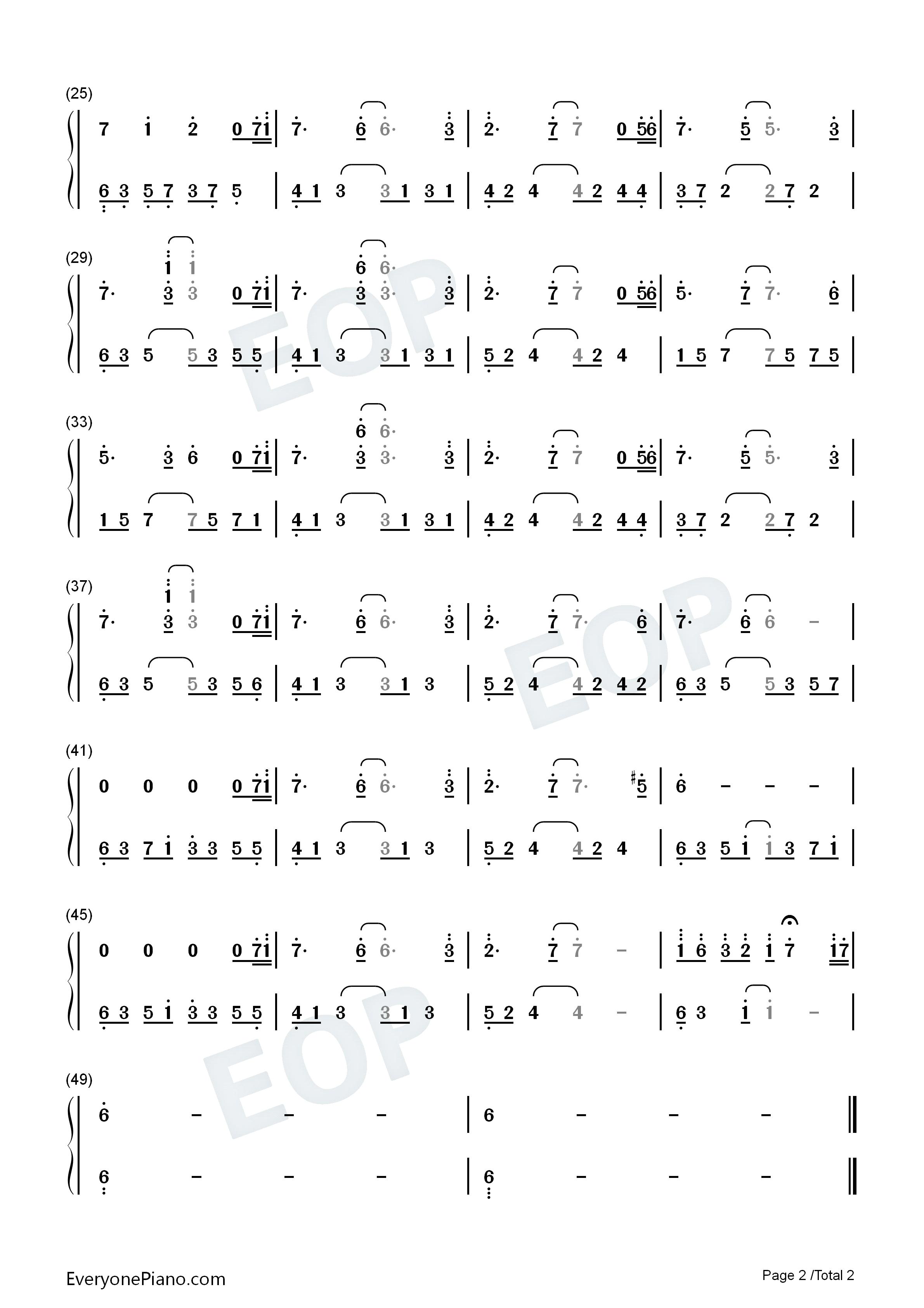 夜的钢琴曲 21-石进双手简谱预览2