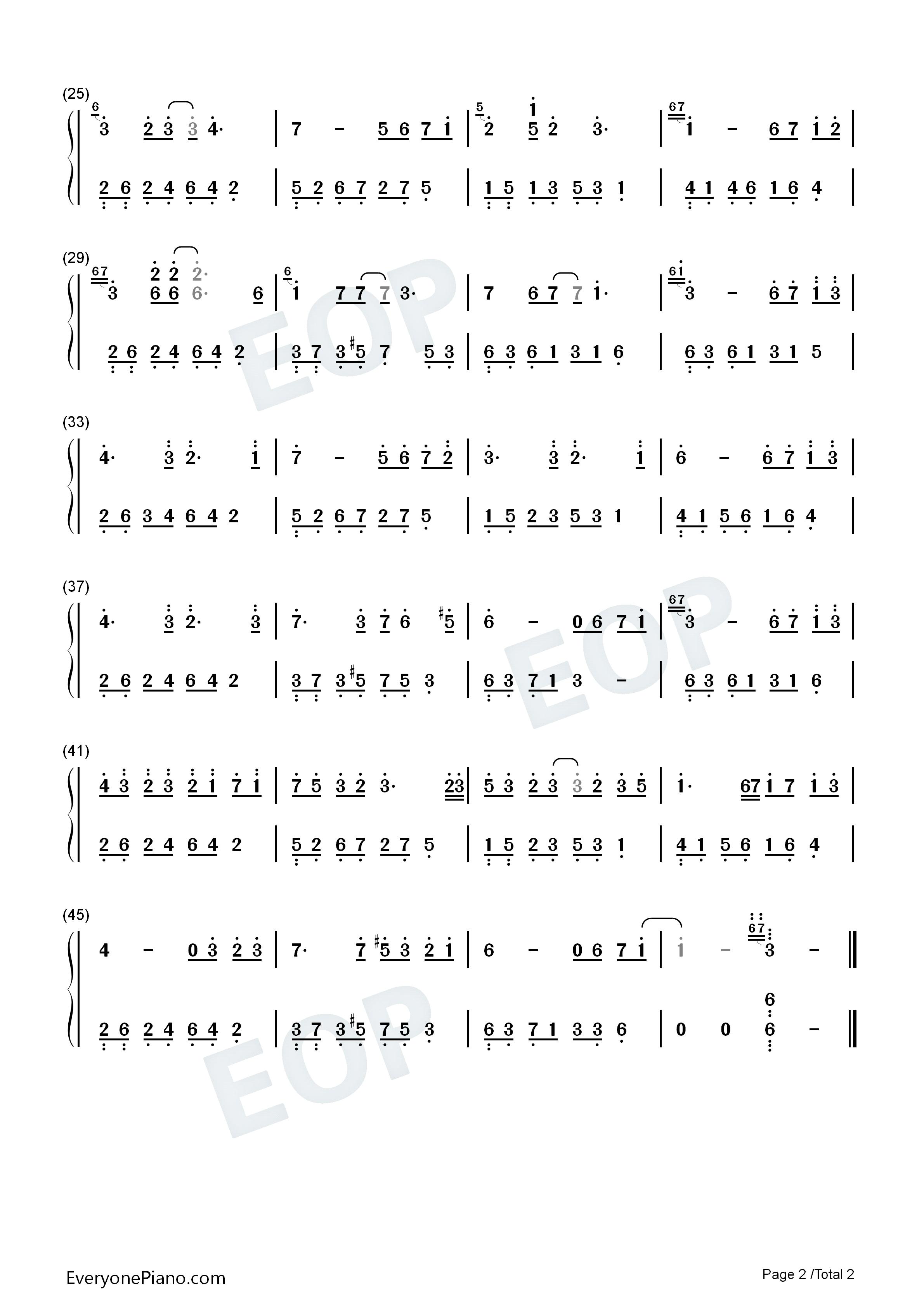 夜的钢琴曲 28-石进双手简谱预览-eop在线乐谱架