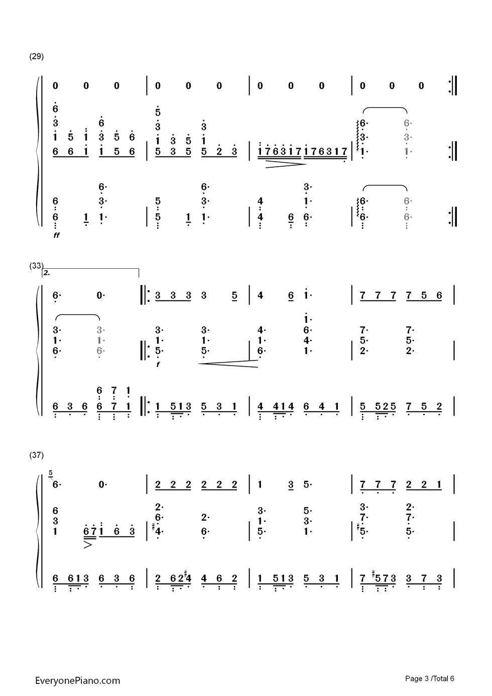 双手简谱版_大鱼钢琴简谱双手