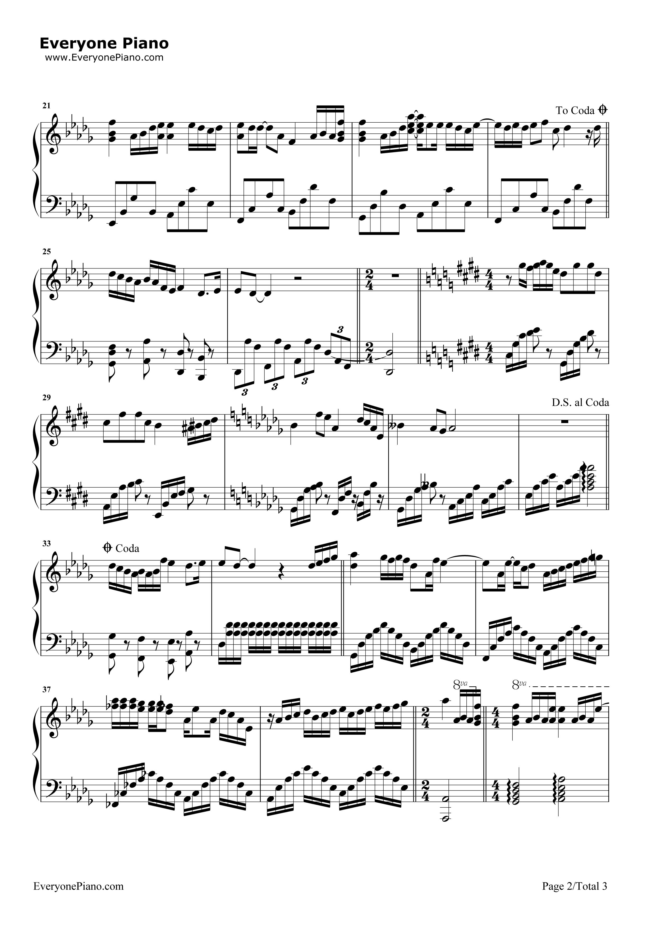 钢琴曲谱 流行 不完美小孩-tfboys 不完美小孩-tfboys五线谱预览2