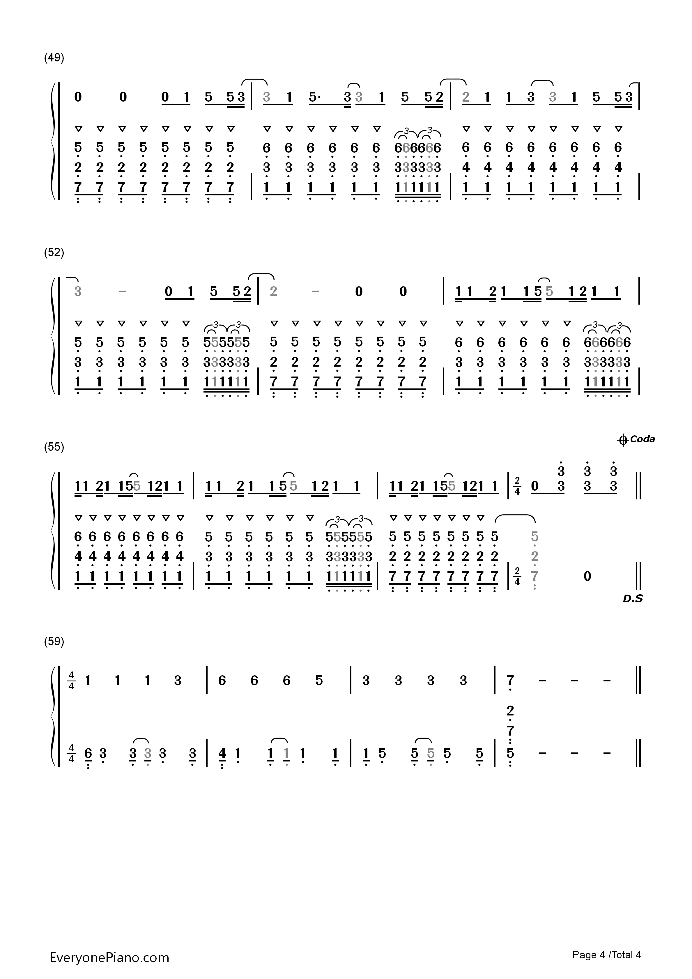 faded-alan walker双手简谱预览4-钢琴谱文件(五线谱