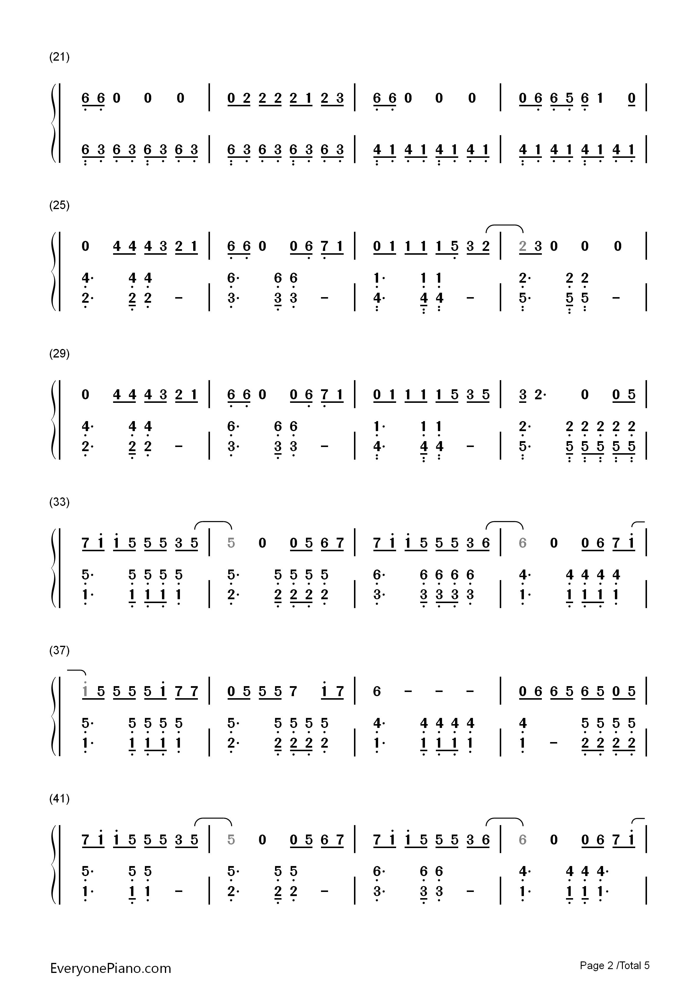 欢乐颂 欢乐颂主题曲双手简谱预览 EOP在线乐谱架