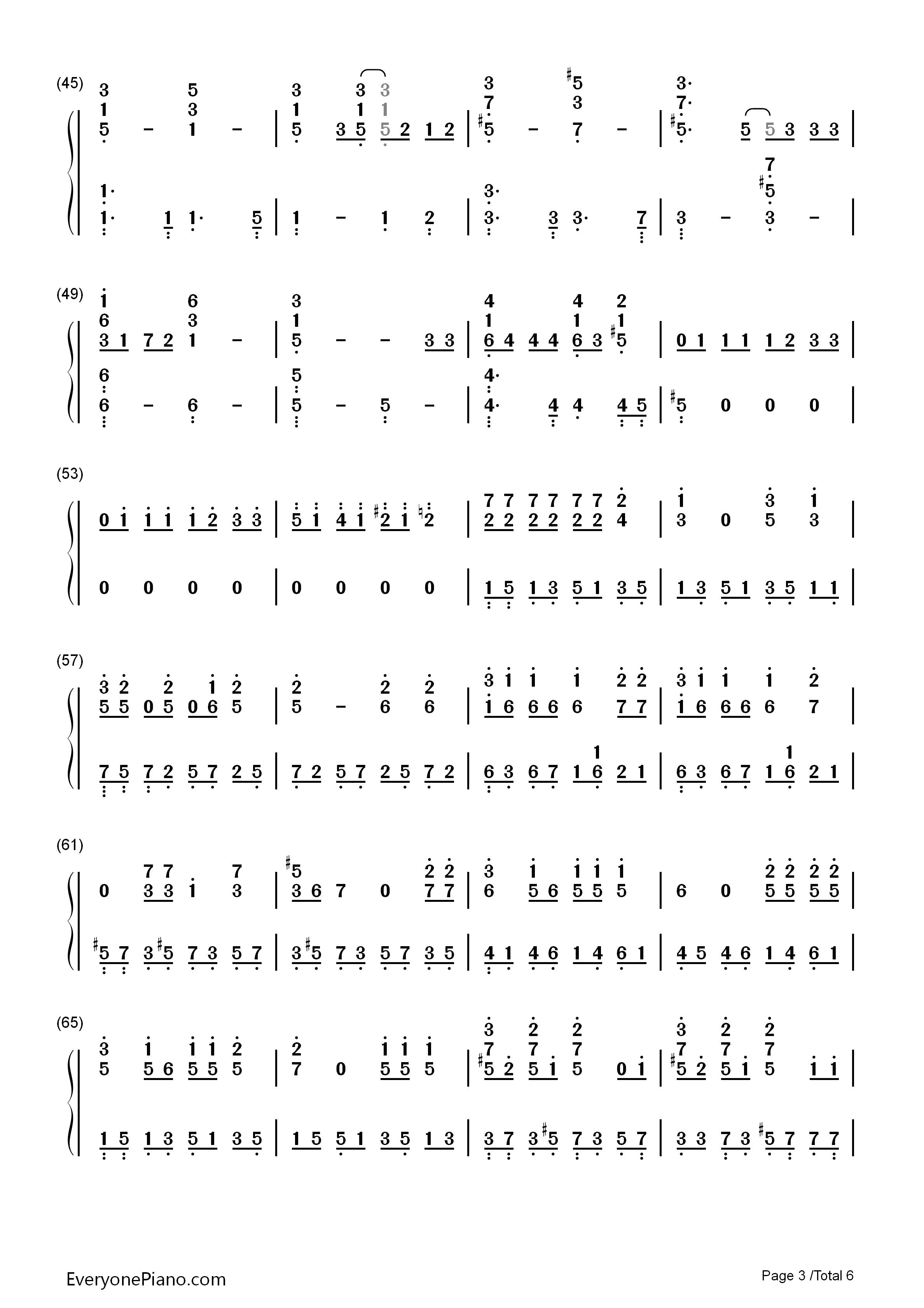 钢琴曲谱 流行 眼鼻嘴-太阳 taeyang 眼鼻嘴-太阳 taeyang双手简谱